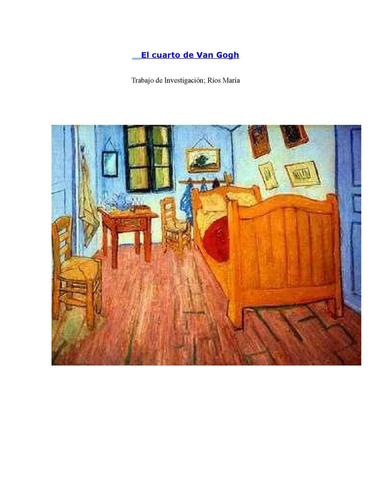 Calaméo - El cuarto de Van Gogh