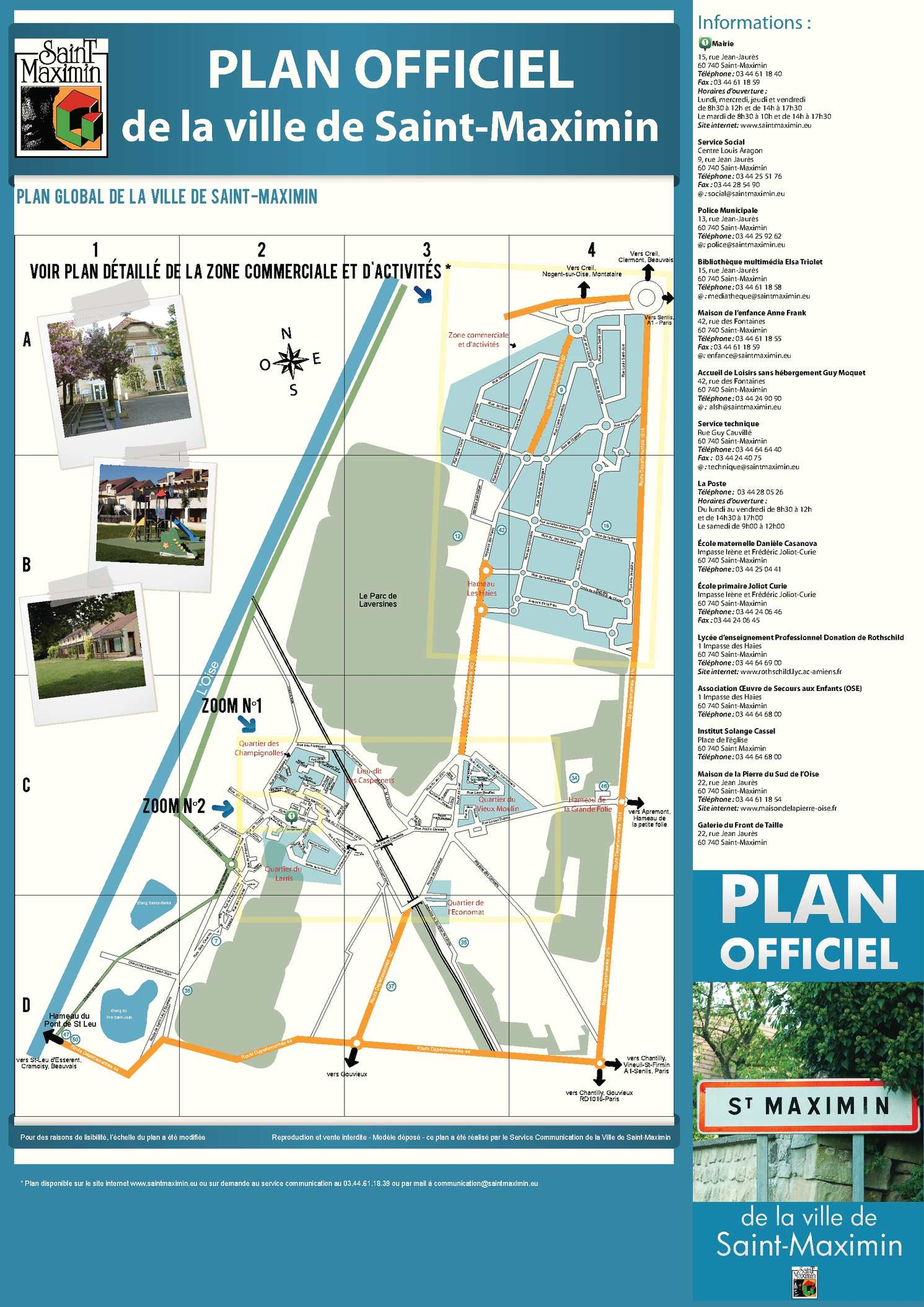 Calam o plan officiel de la ville de saint maximin for Cash piscine saint maximin