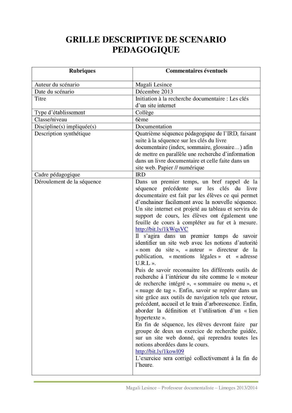 Expérimentation tablettes au CDI Initiation à la recherche documentaire clefs d'un site