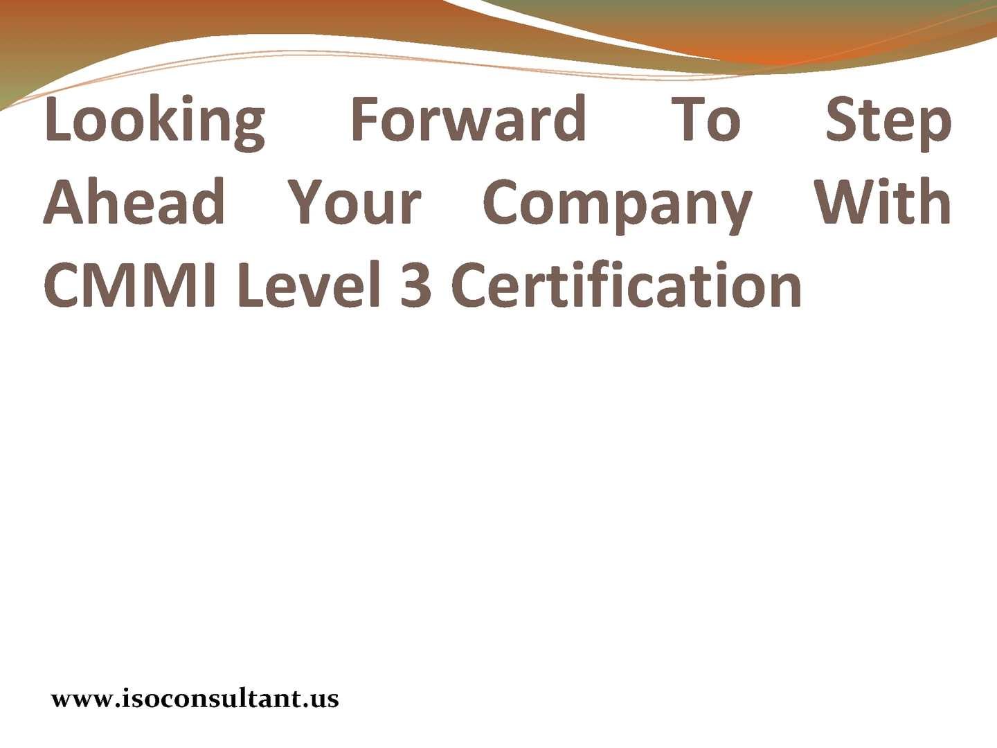Calamo Cmmi Level 3 Documentation For Cmmi Maturity Models