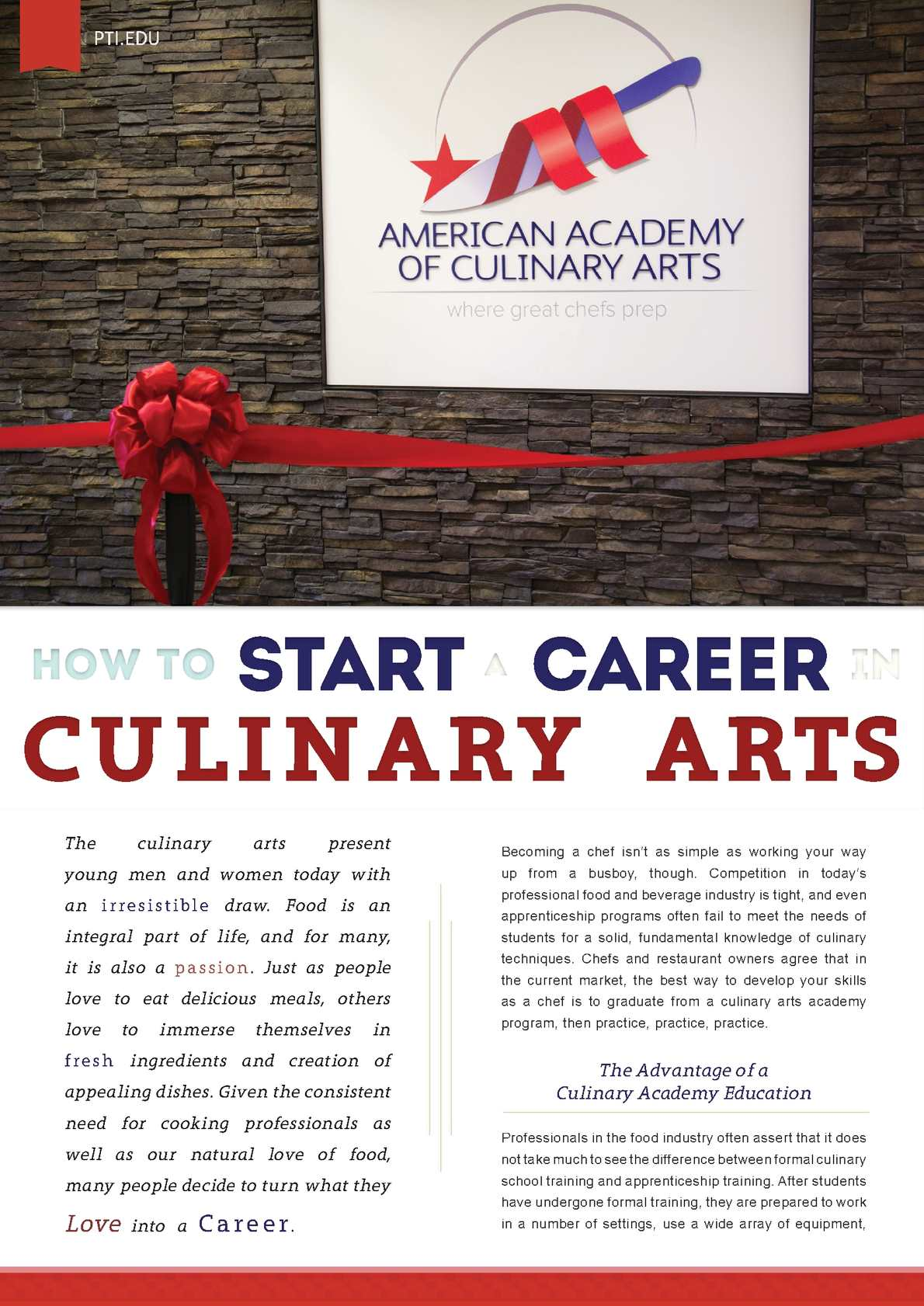 career development as a chef essay