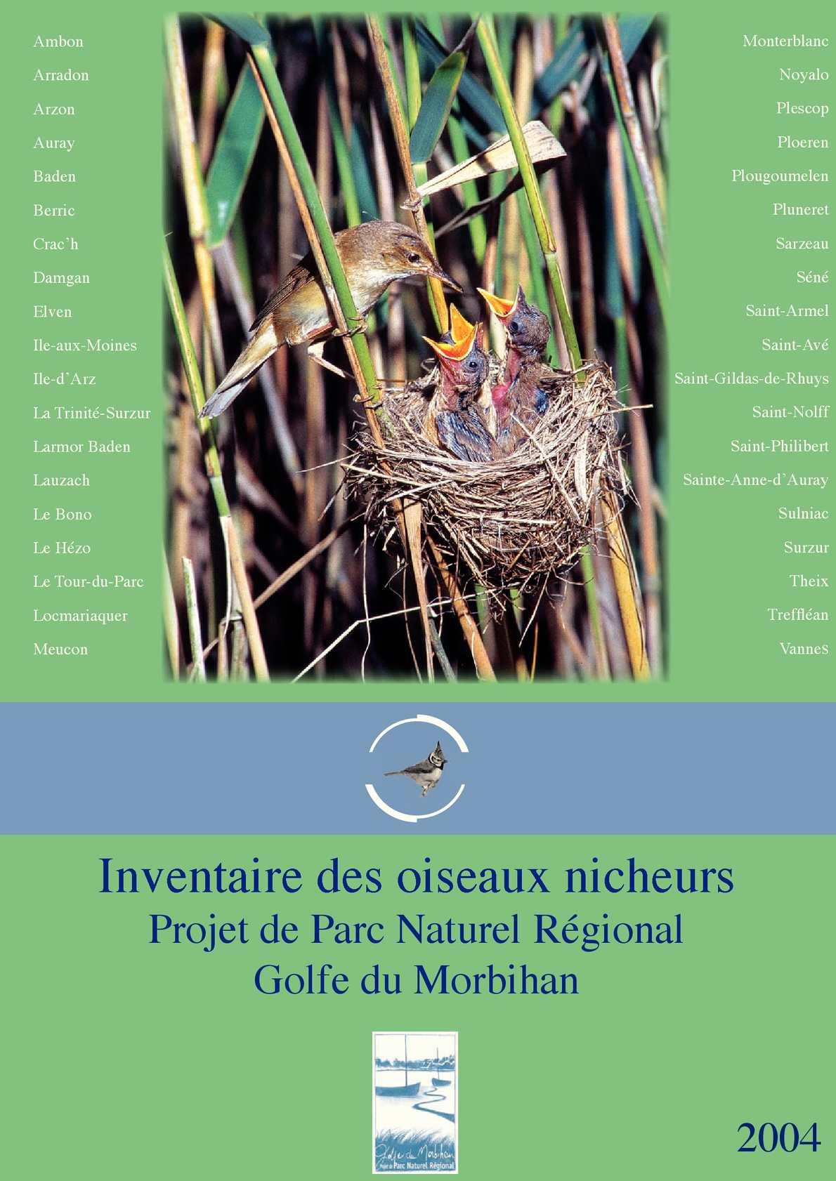 Inventaire des oiseaux nicheurs du projet de Parc Naturel Régional du Golfe du Morbihan - 2004