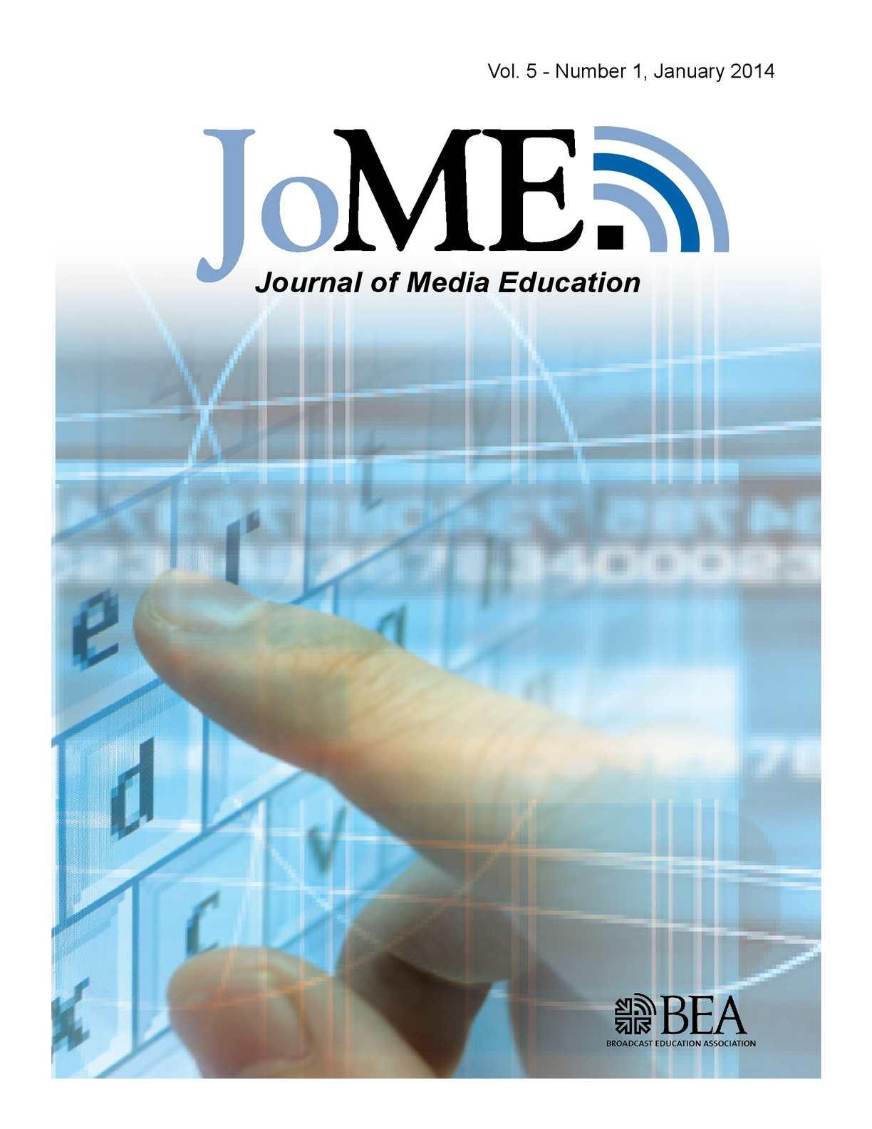 Calaméo - Journal of Media Education | January 2014