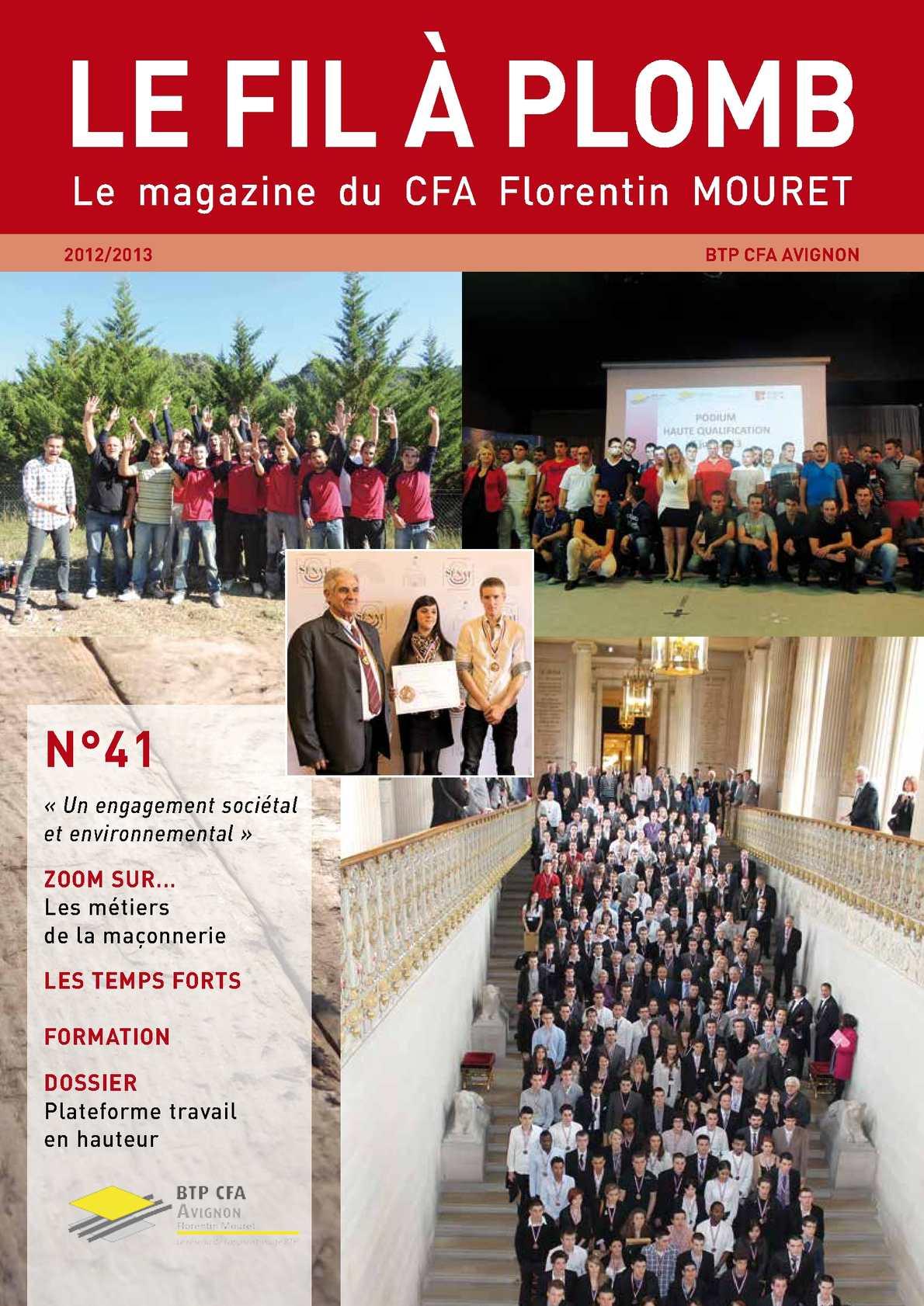 Calaméo magazine FILAPLOMB de BTP CFA Avignon Florentin Mouret n°21