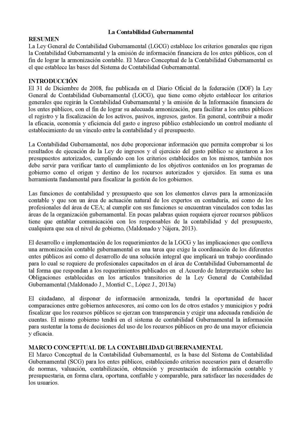 Calaméo - Marco Conceptual de la Contabilidad Gubernamental