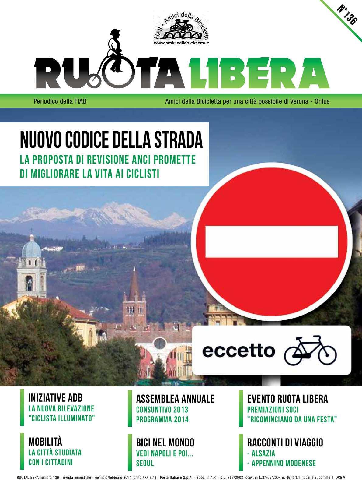 Ruotalibera 136 (gennaio/febbraio 2014) - FIAB Verona - AdB