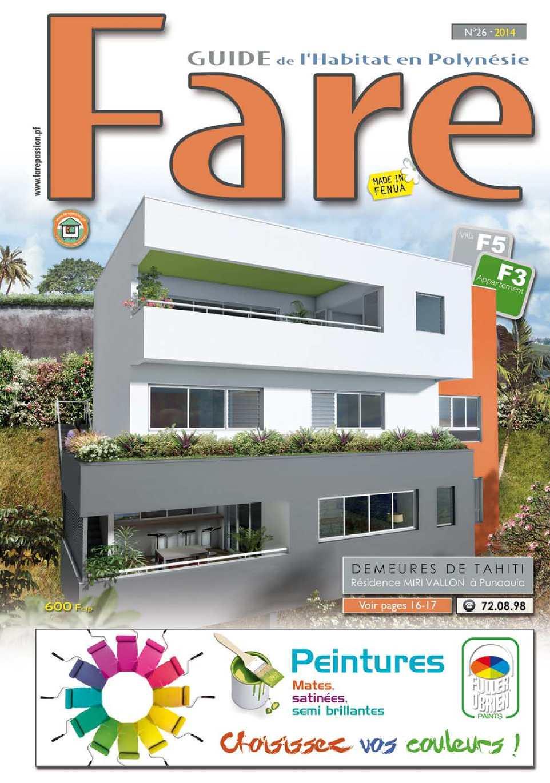 calam o fare 2014 guide de l 39 habitat en polyn sie tahiti. Black Bedroom Furniture Sets. Home Design Ideas