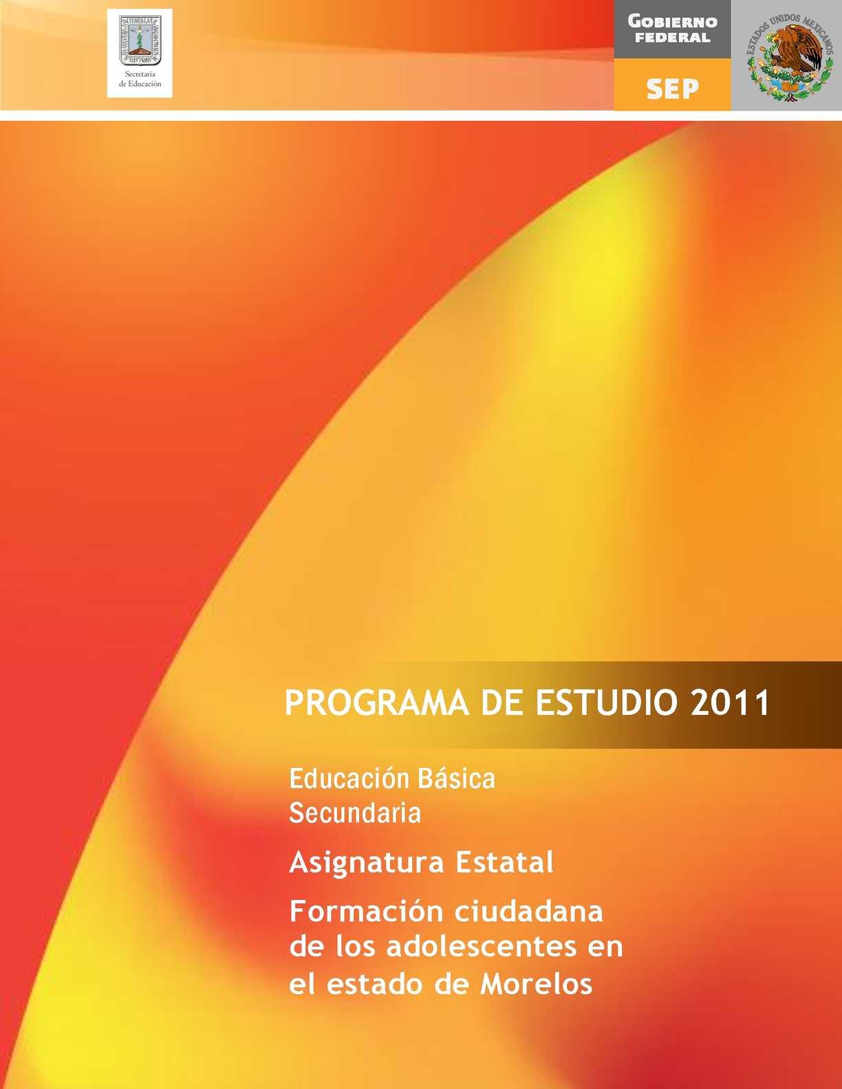 calaméo programa formación ciudadana de los adolescentes