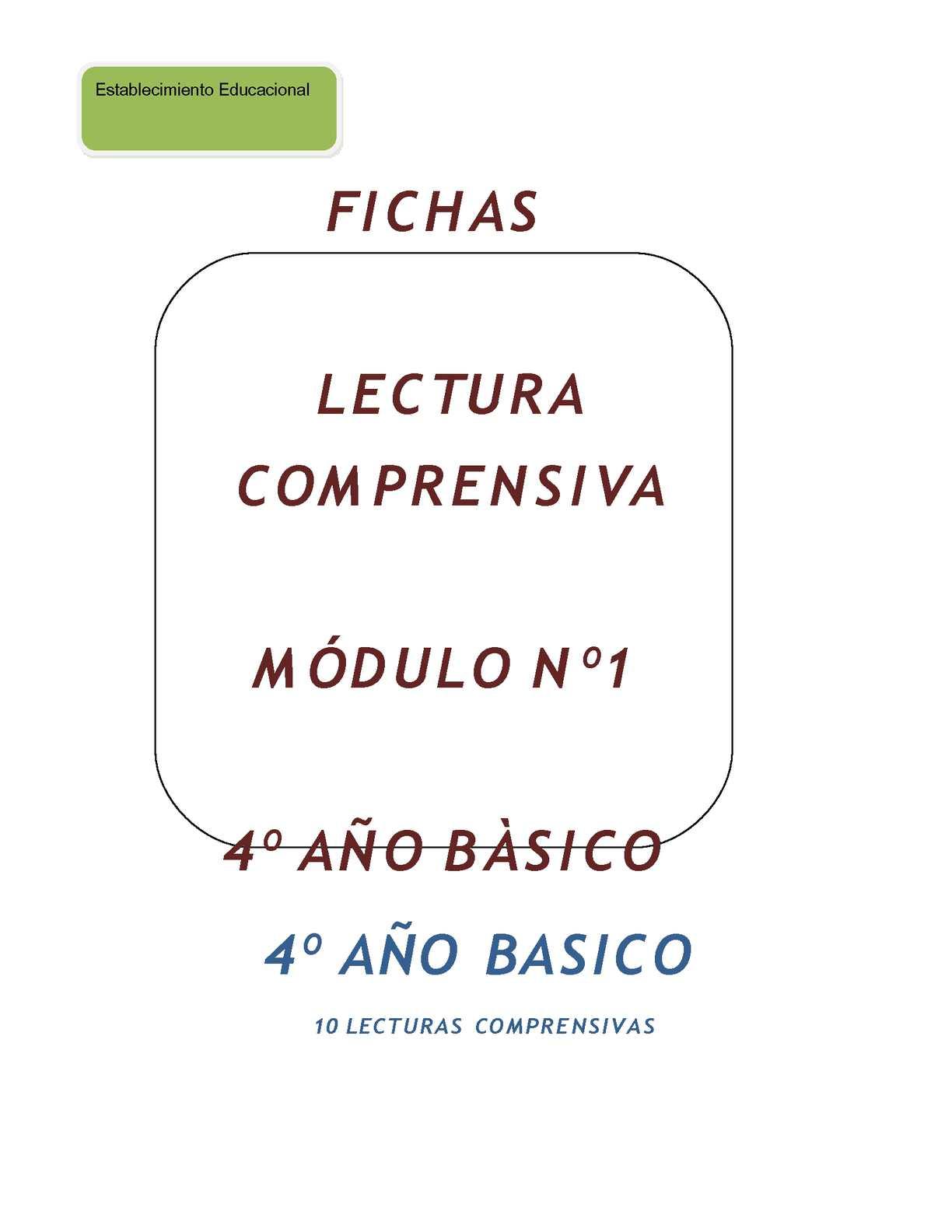 FICHAS LECTURAS COMPRENSIVAS 3º