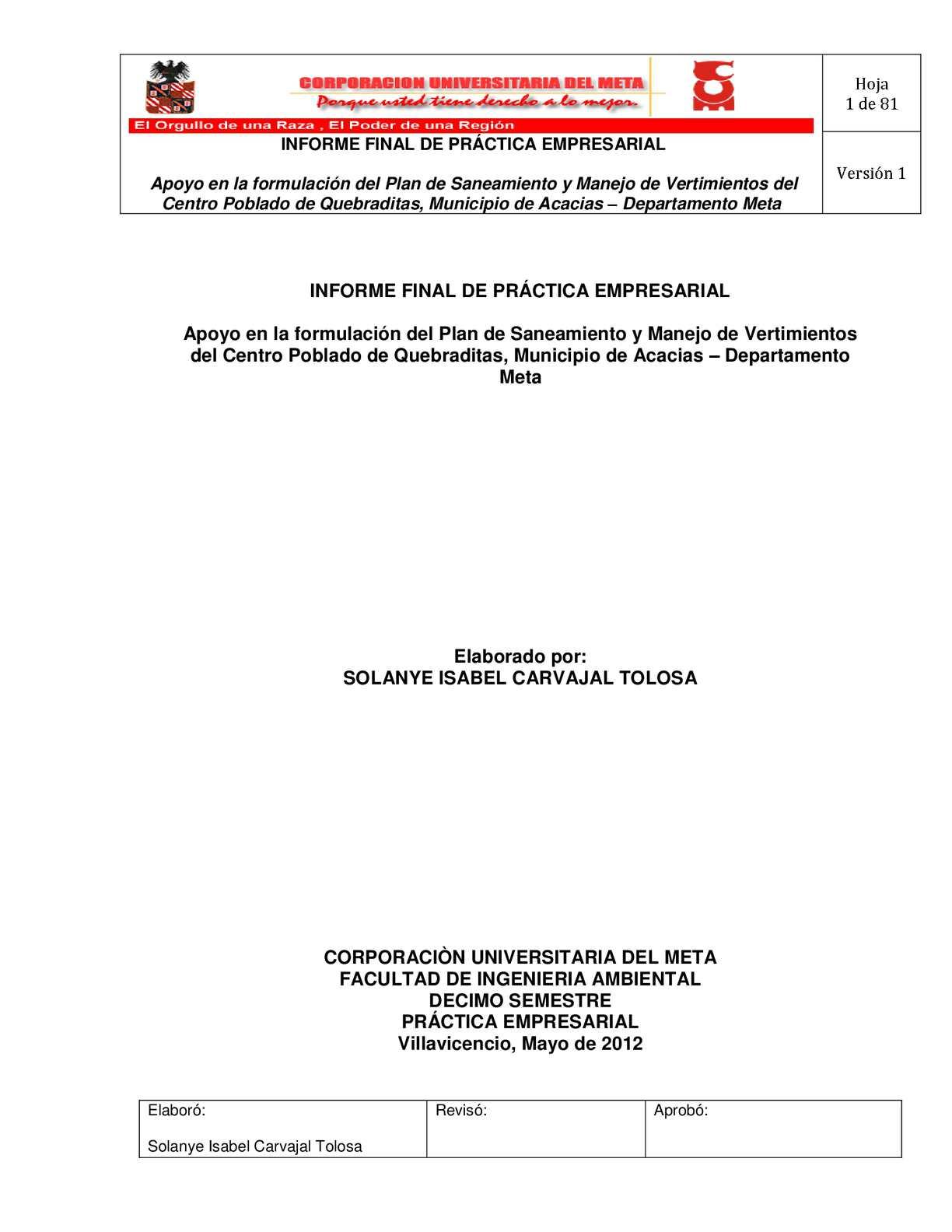 INFORME FINAL DE PRÁCTICA EMPRESARIAL - SOL
