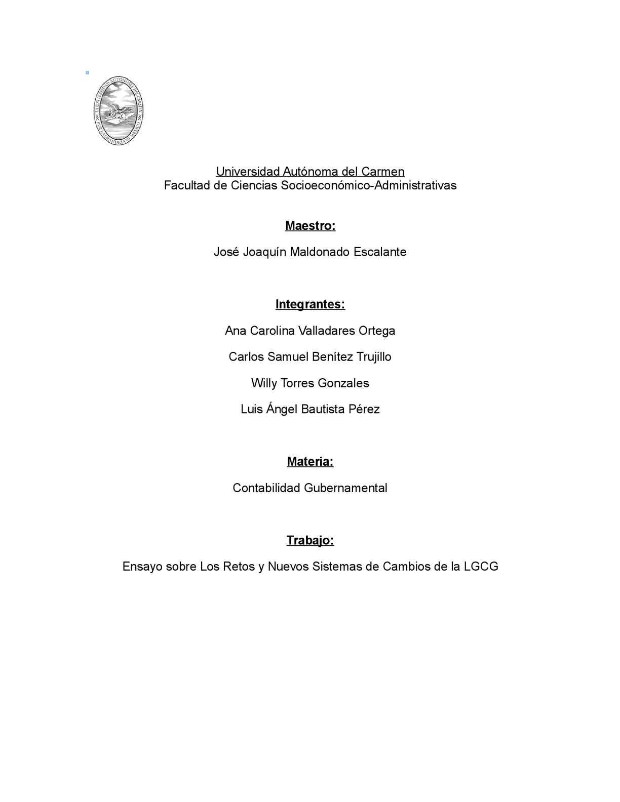 Calaméo - Ensayo de contabilidad gubernamental
