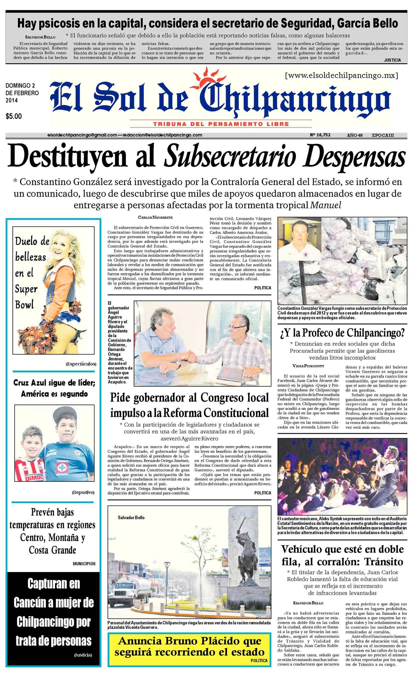 Calaméo - El Sol de Chilpancingo 2 Febrero 2014