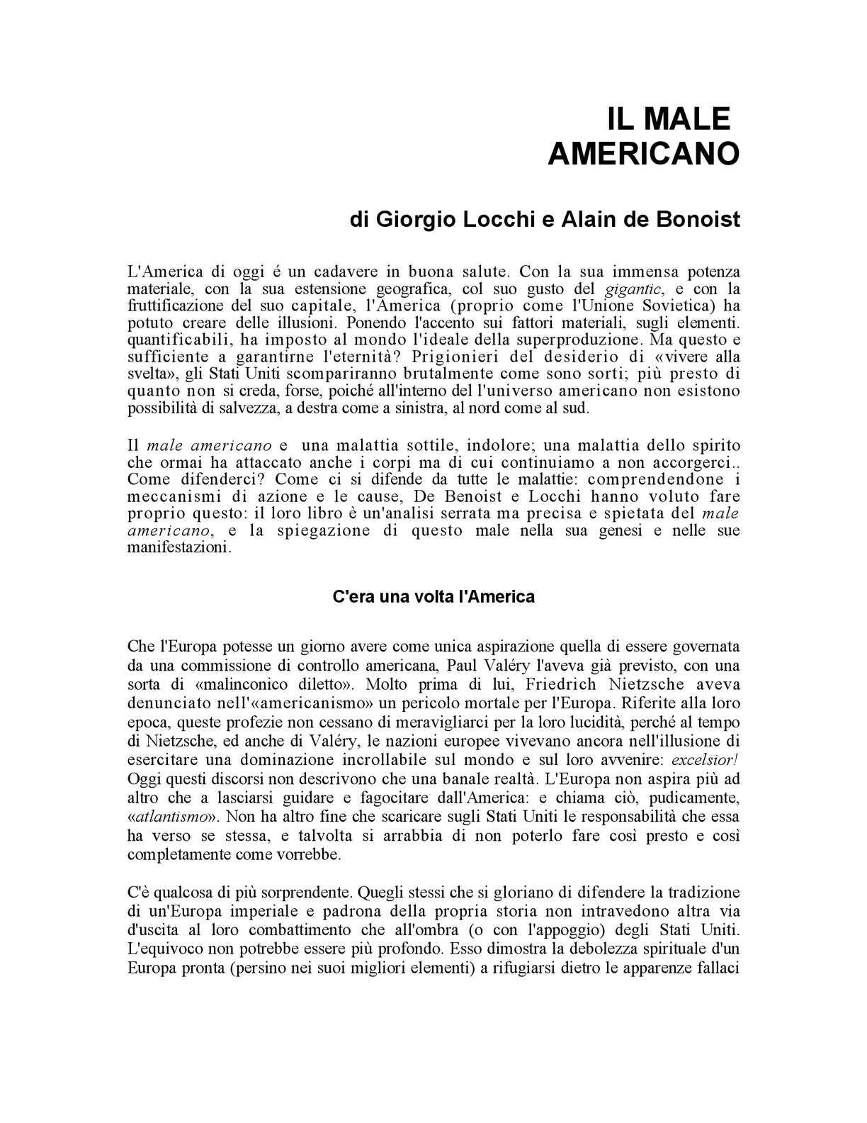 Locchi Una C'era L'america Volta Calaméo Giorgio 0qH8w