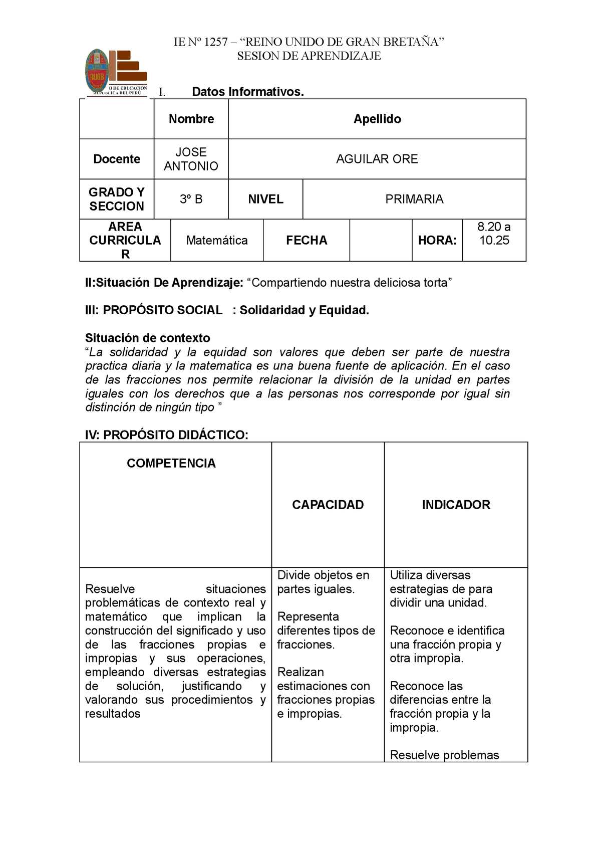 Calaméo - SESION DE APRENDIZAJE