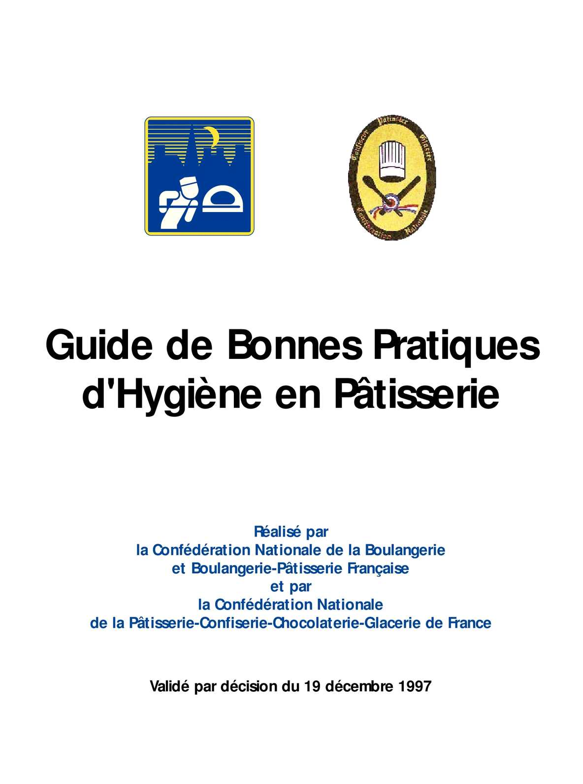 Calam o guide bonnes pratiques d 39 hygi ne en boulangerie for Exemple de reglement interieur entreprise