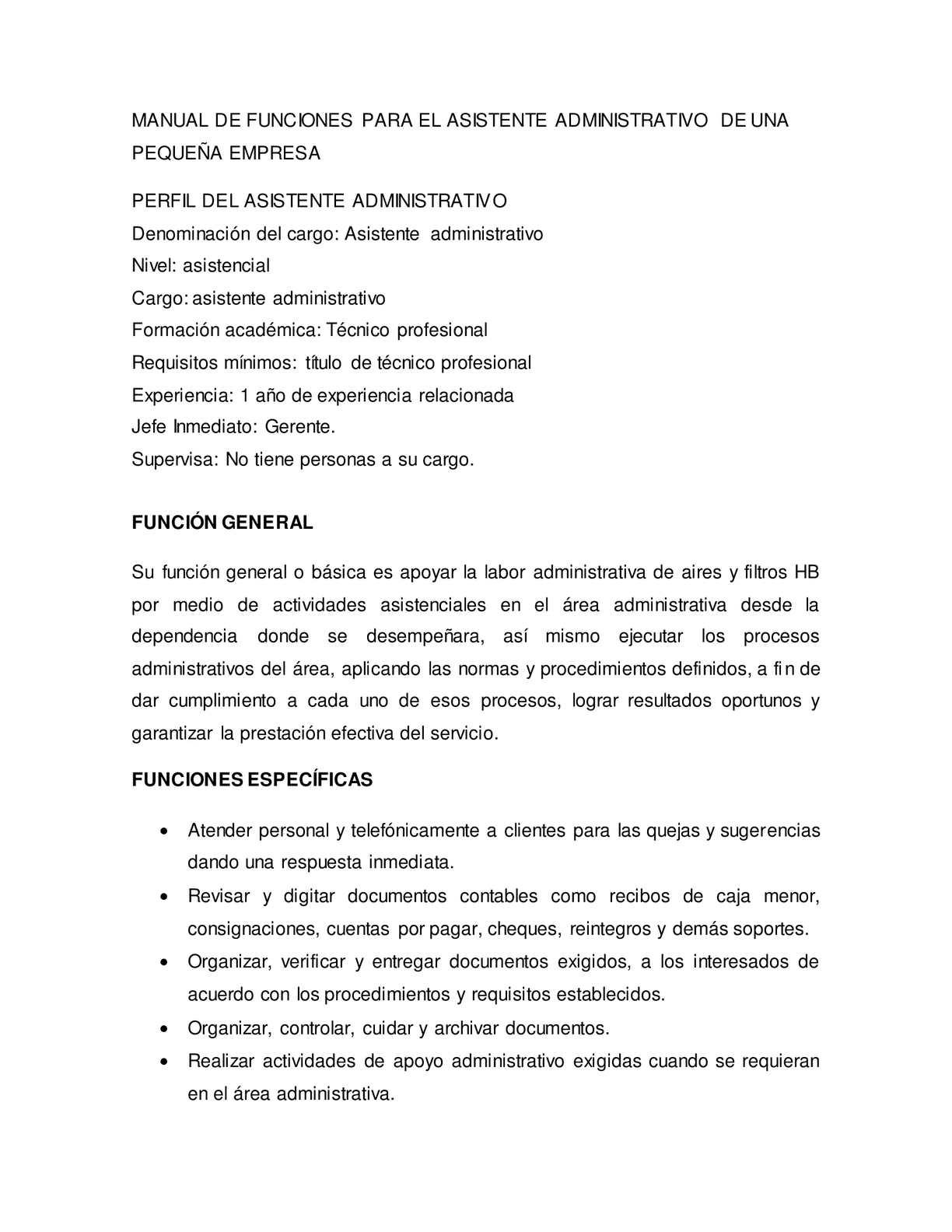 Calaméo - manual de funciones del asistente administrativo pequeñas ...