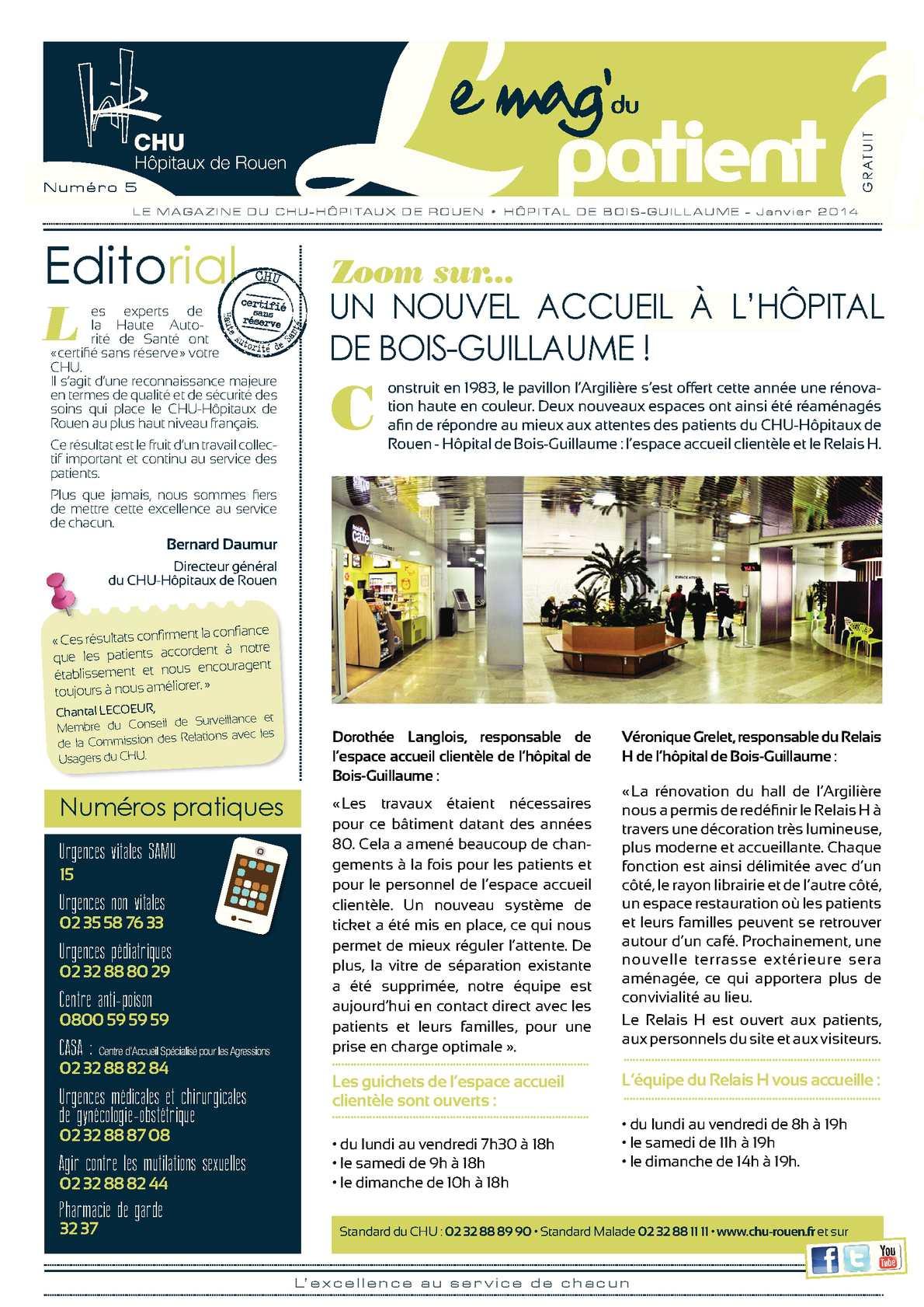 Calaméo  Le Mag du patient N° 5  Hôpital de BoisGuillaume ~ Hopital De Bois Guillaume