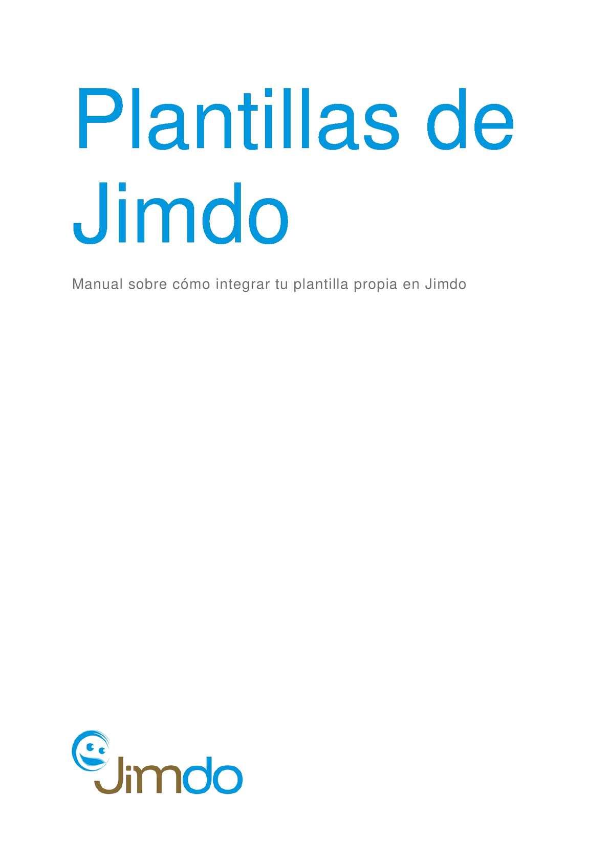 Calaméo - Plantillas propias en Jimdo