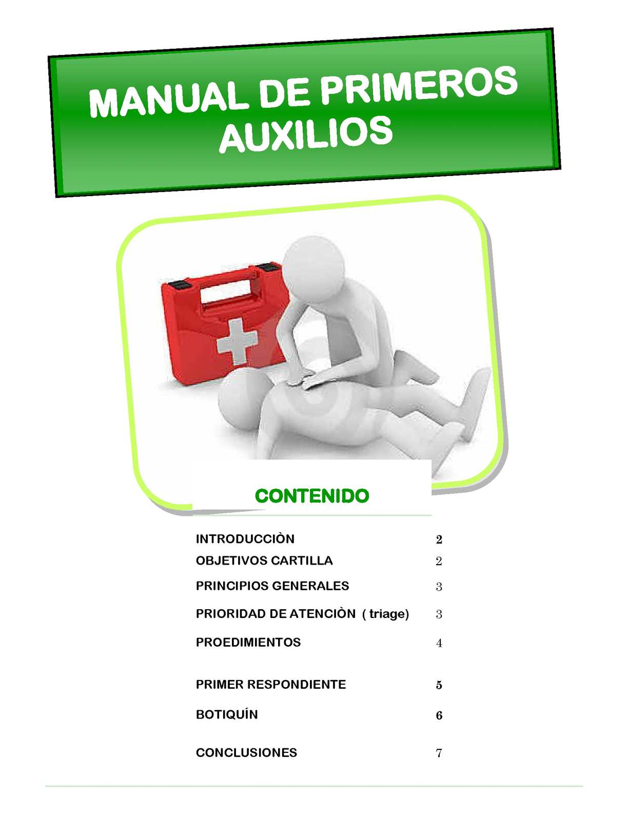Manual de primeros auxilios pdf pages for Manual de acuicultura pdf