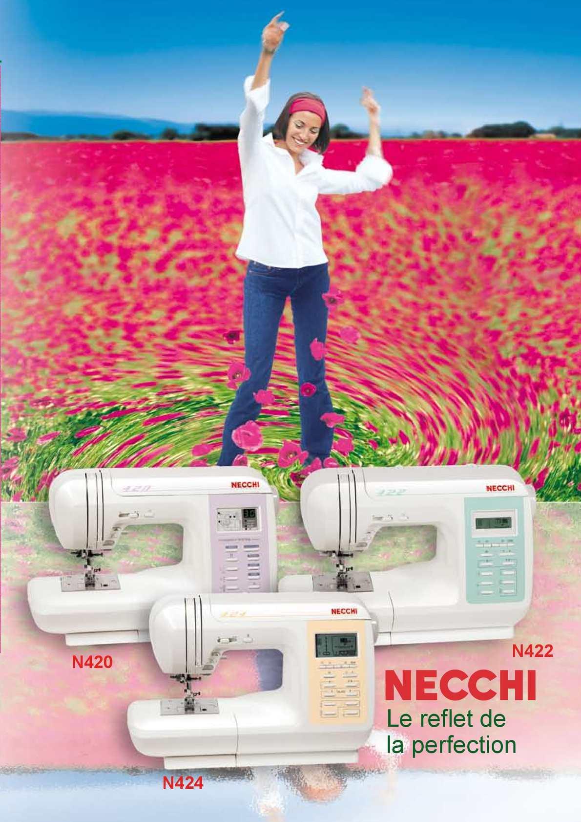 Fiche produits NECCHI Electroniques N420-N422-N424