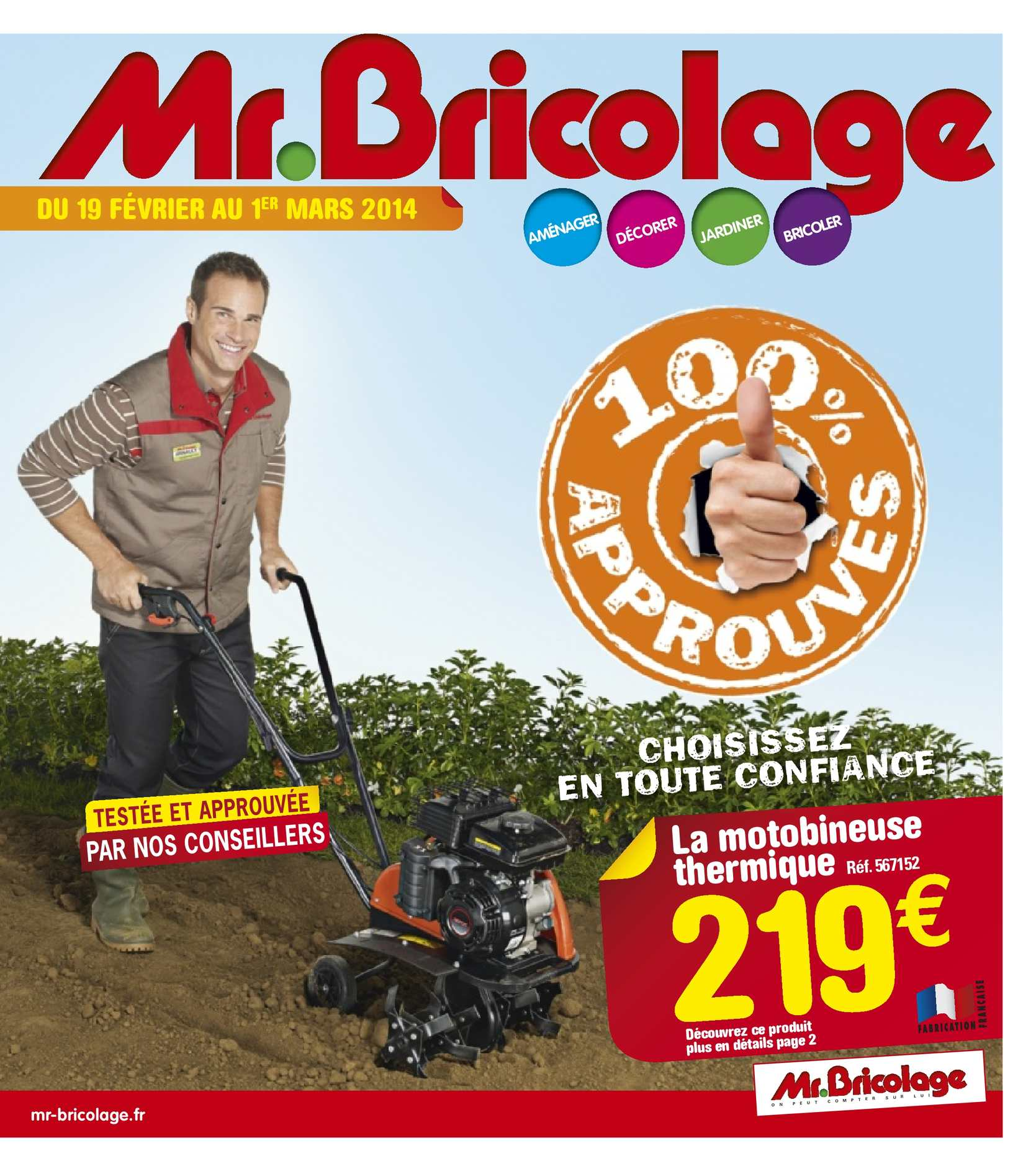 Calam o catalogue mr bricolage produits pr f r s 16 pages for Catalogue jardin 2015 mr bricolage