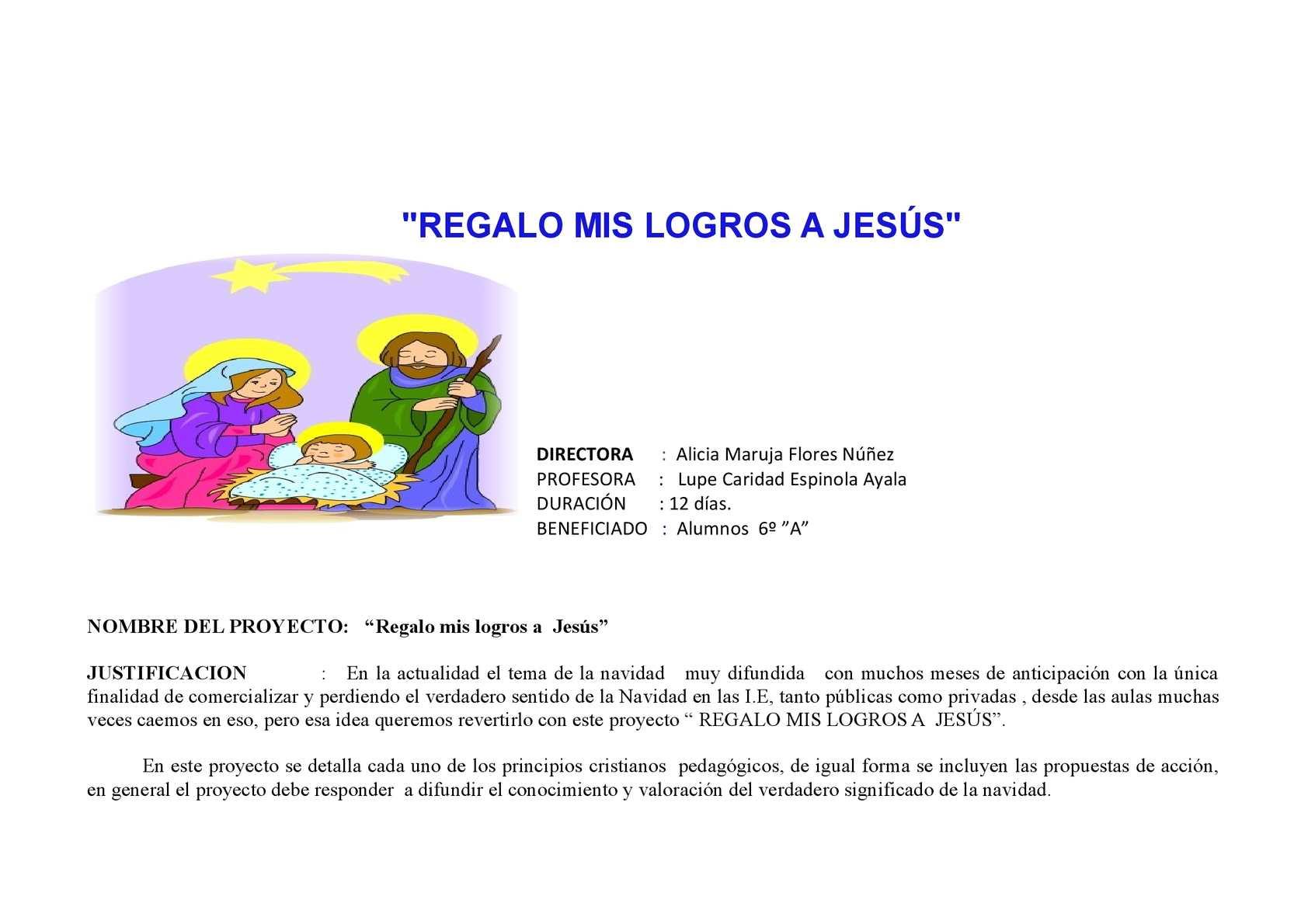 Calaméo - REGALO MIS LOGROS A JESÚS