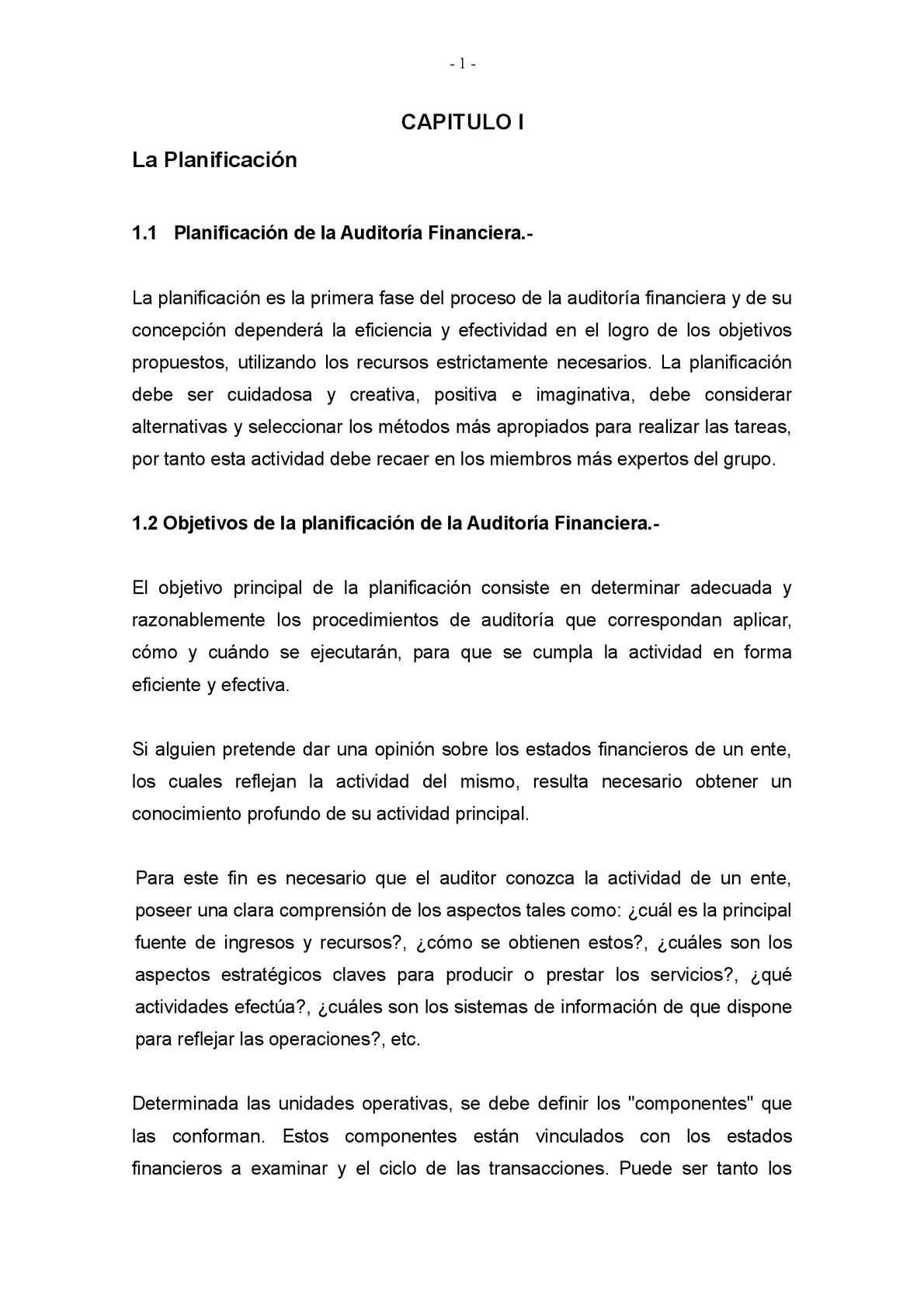 PLANIFICACIÓN DE AUDITORÍA