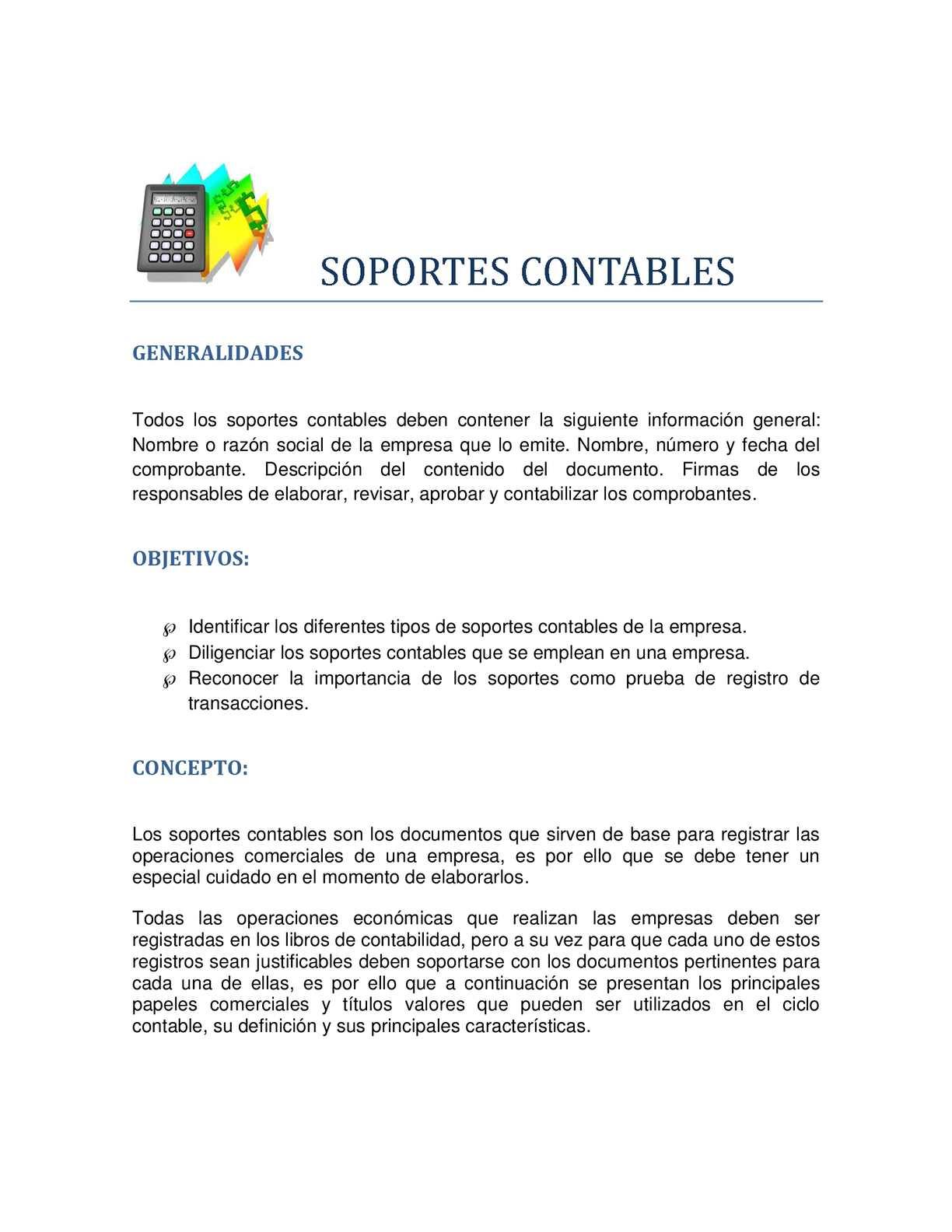 Calaméo - SOPORTES CONTABLES
