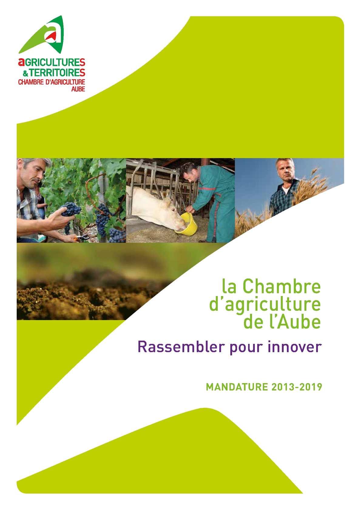 Calaméo La Chambre d agriculture de l Aube Rassembler pour innover