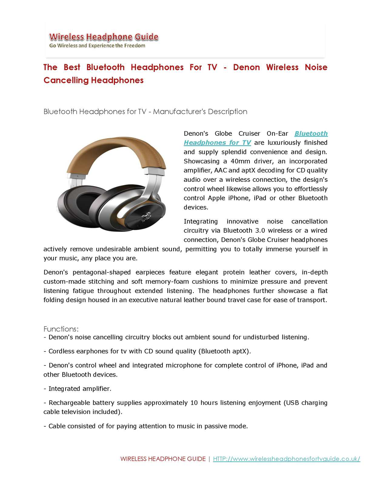 Calamo The Best Bluetooth Headphones For Tv Denon Wireless Headphone Lifier Circuit Schematic Noise Cancelling
