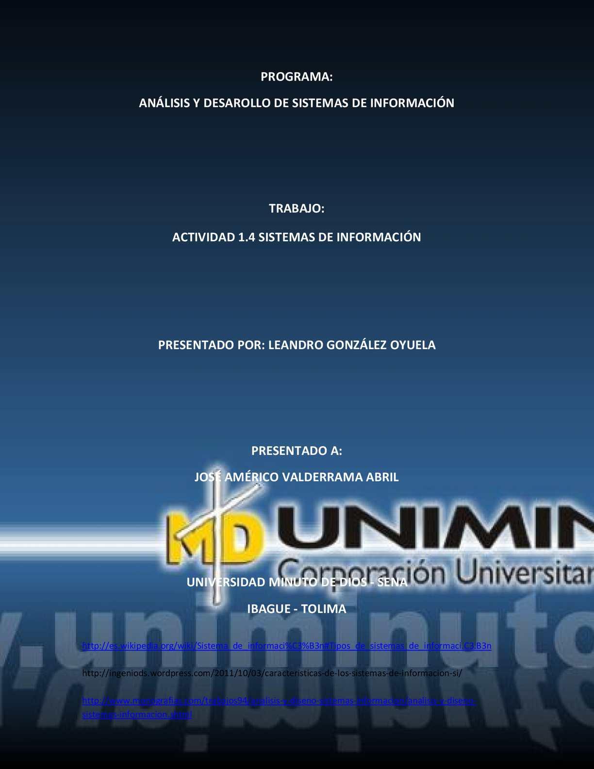 Actividad 1.4 Sistemas de Informacion, Leandro González Oyuela