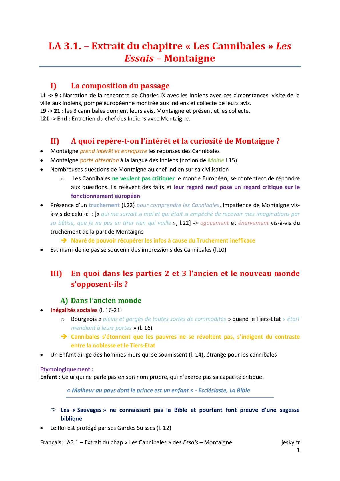 ES - FRANCAIS - LA 3.1 | JéSky.fr