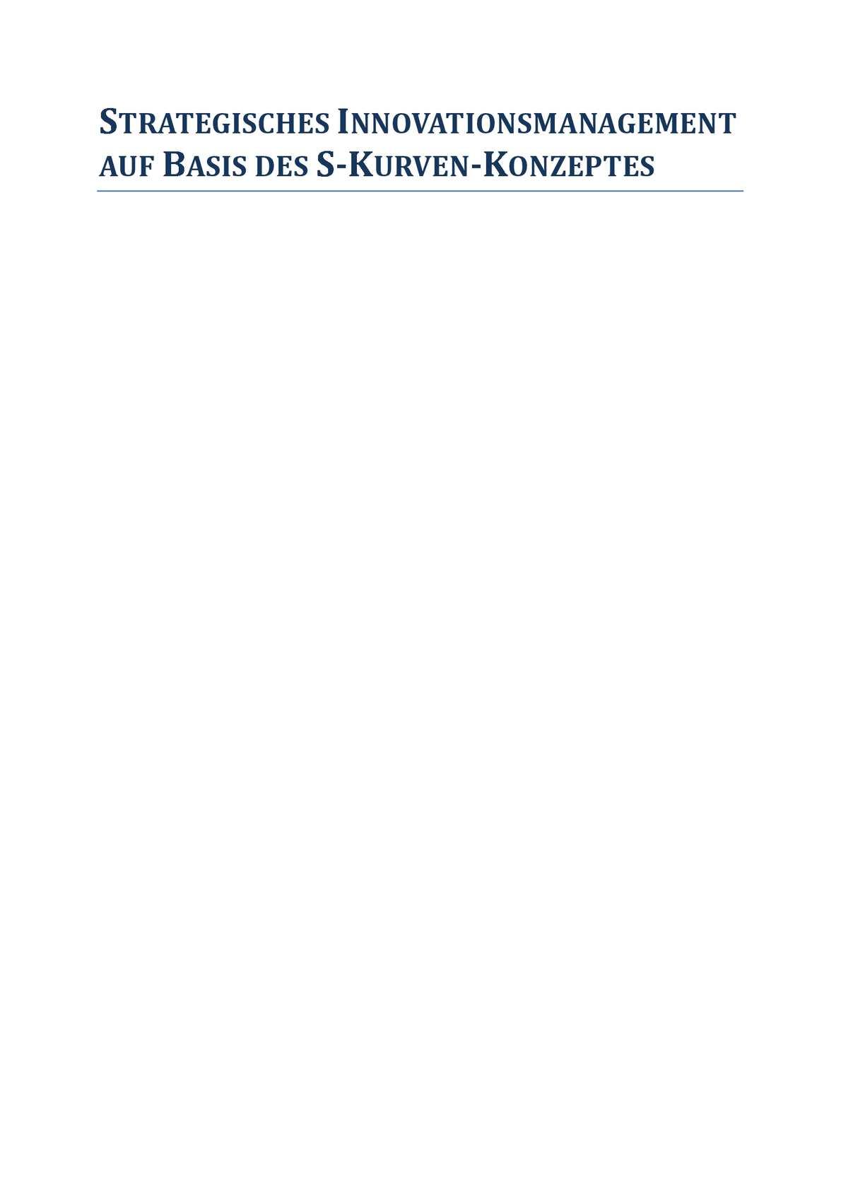Calaméo - Strategisches Innovationsmanagement auf Basis des S-Kurven ...