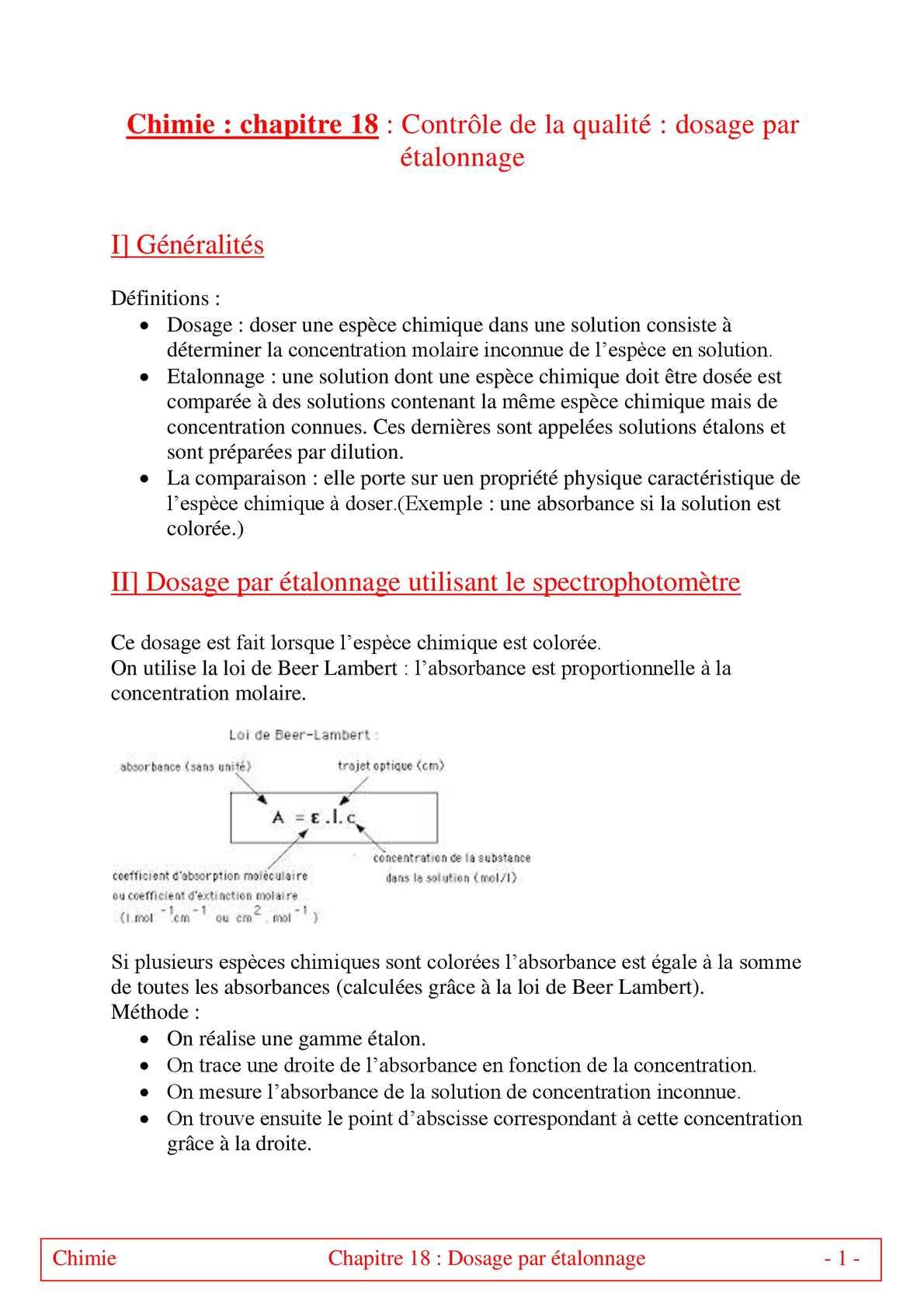 TS - PHYSIQUE/CHIMIE – Chapitre 18 bis | JéSky.fr