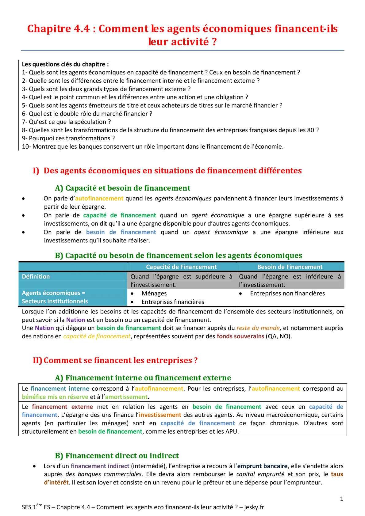 ES - SOCIO - Chapitre 11 | JéSky.fr
