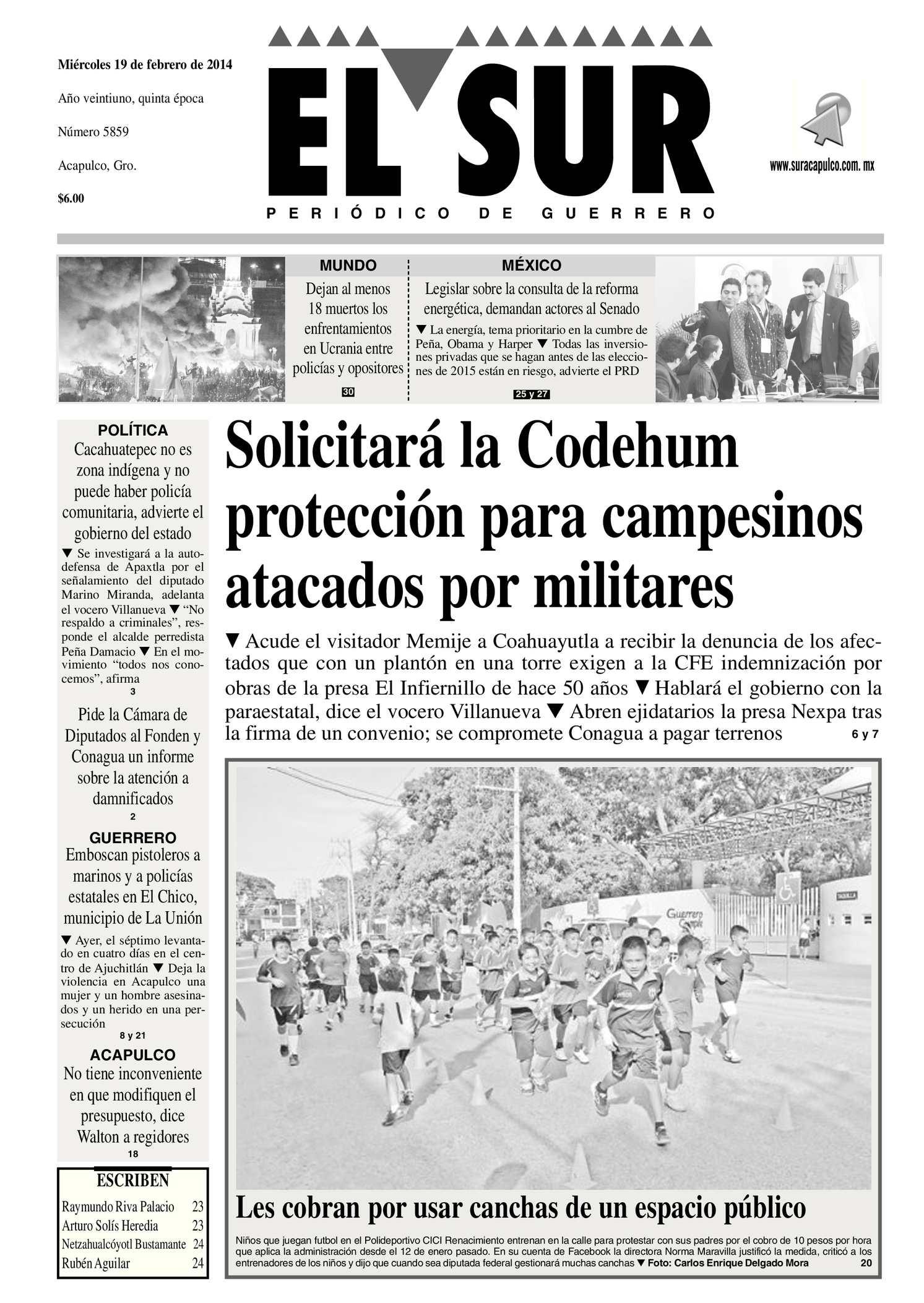 Calaméo - El Sur 19 de Febrero de 2014