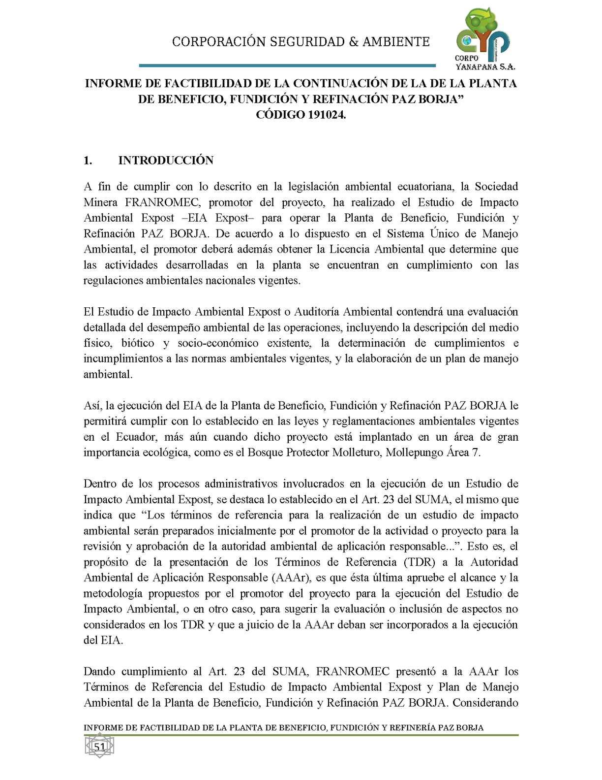 Calaméo - Informe de Factibilidad Ambiental
