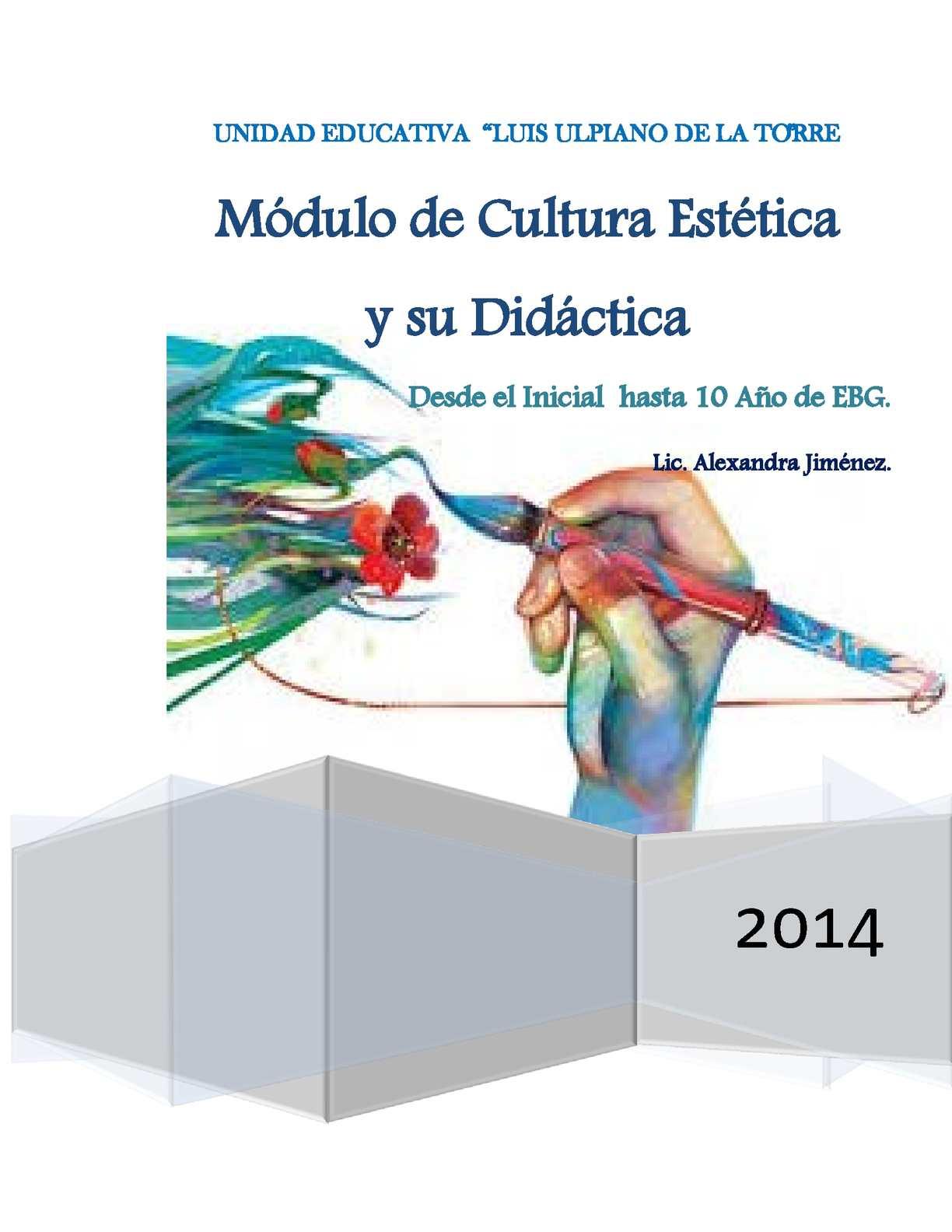 Guía de Educación Artistica- EGB