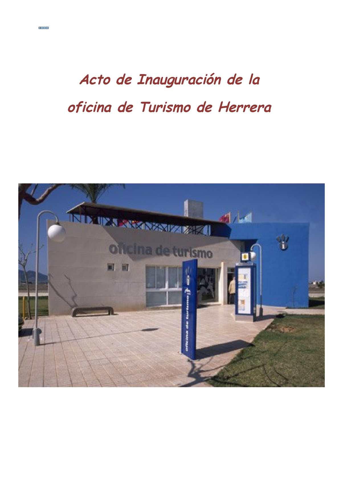 Calam o acto de inauguraci n de oficina de turismo for Oficina de turismo sevilla