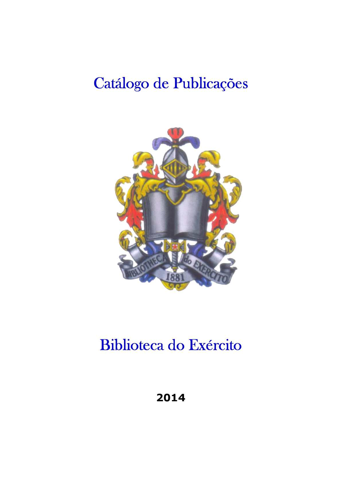 Catálogo de Livros da Biblioteca do Exército - BIBLIEX