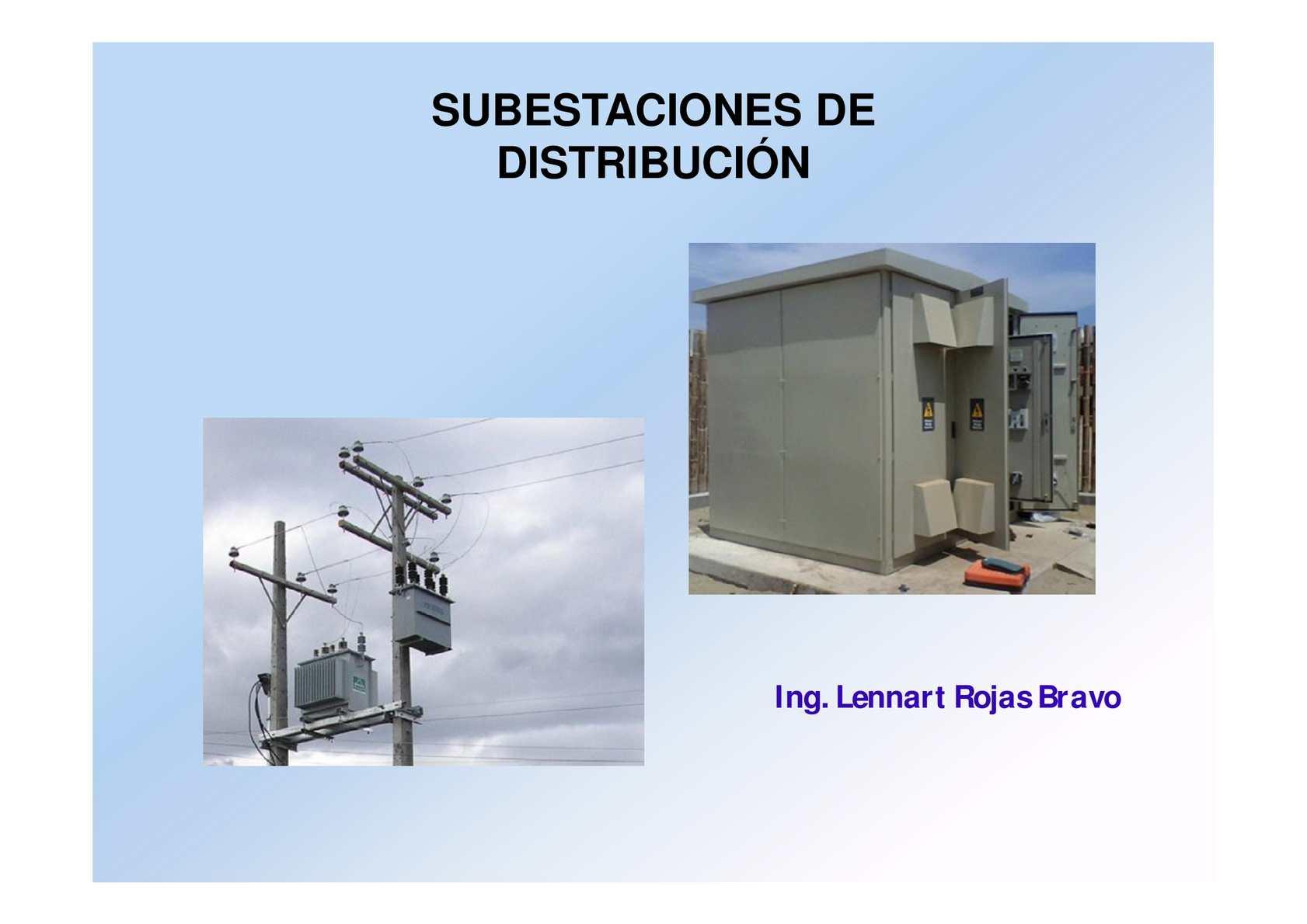 Subestaciones de Distribucion