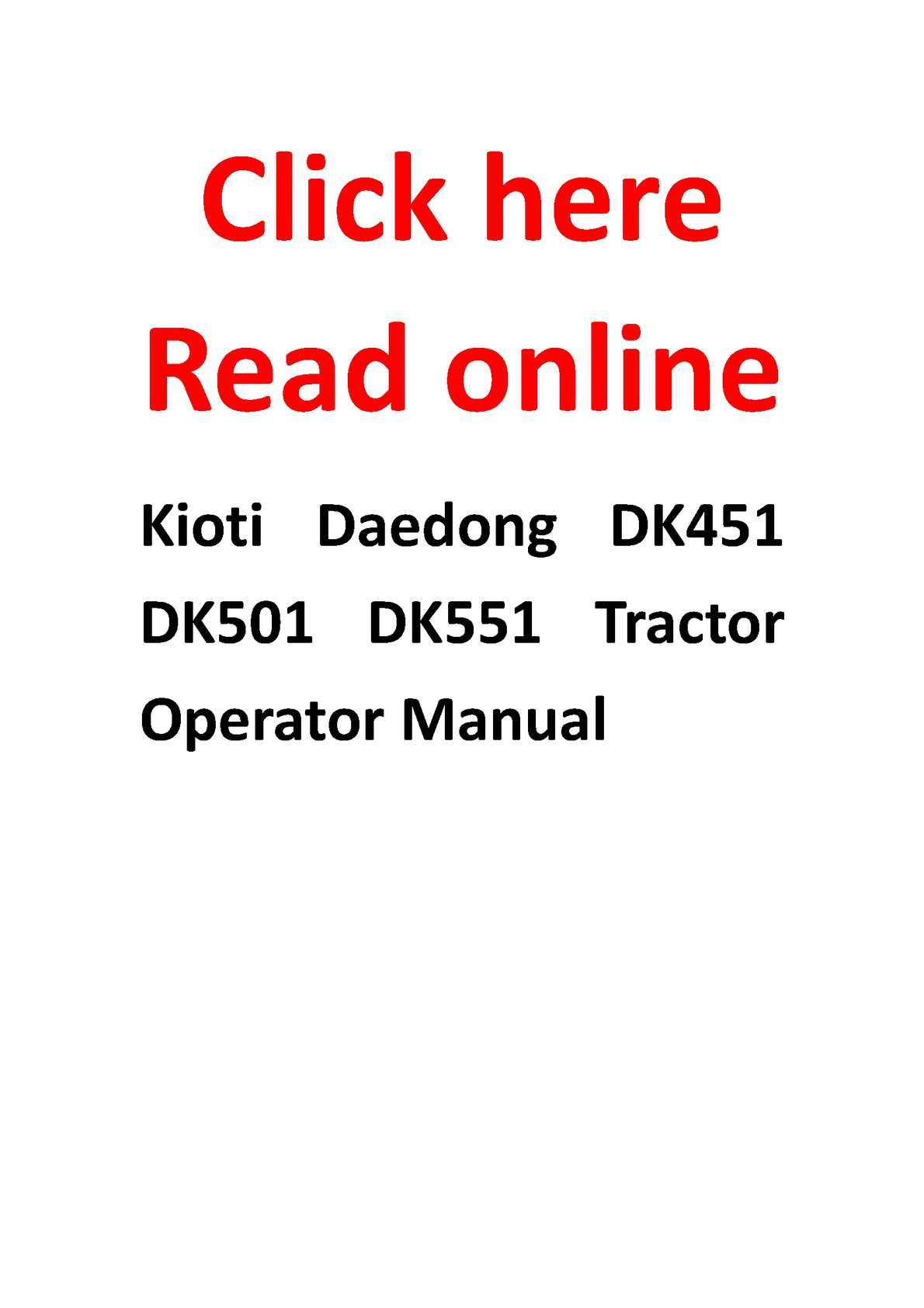 Kioti Wiring Diagram Libraries Tractor Calam O Daedong Dk451 Dk501 Dk551 Operator Manualkioti 12