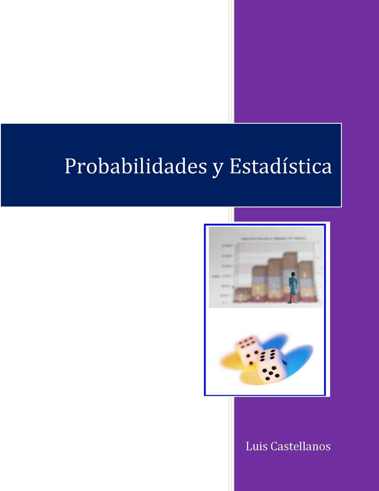 Probabilidades y Estadística - Luis Castellanos