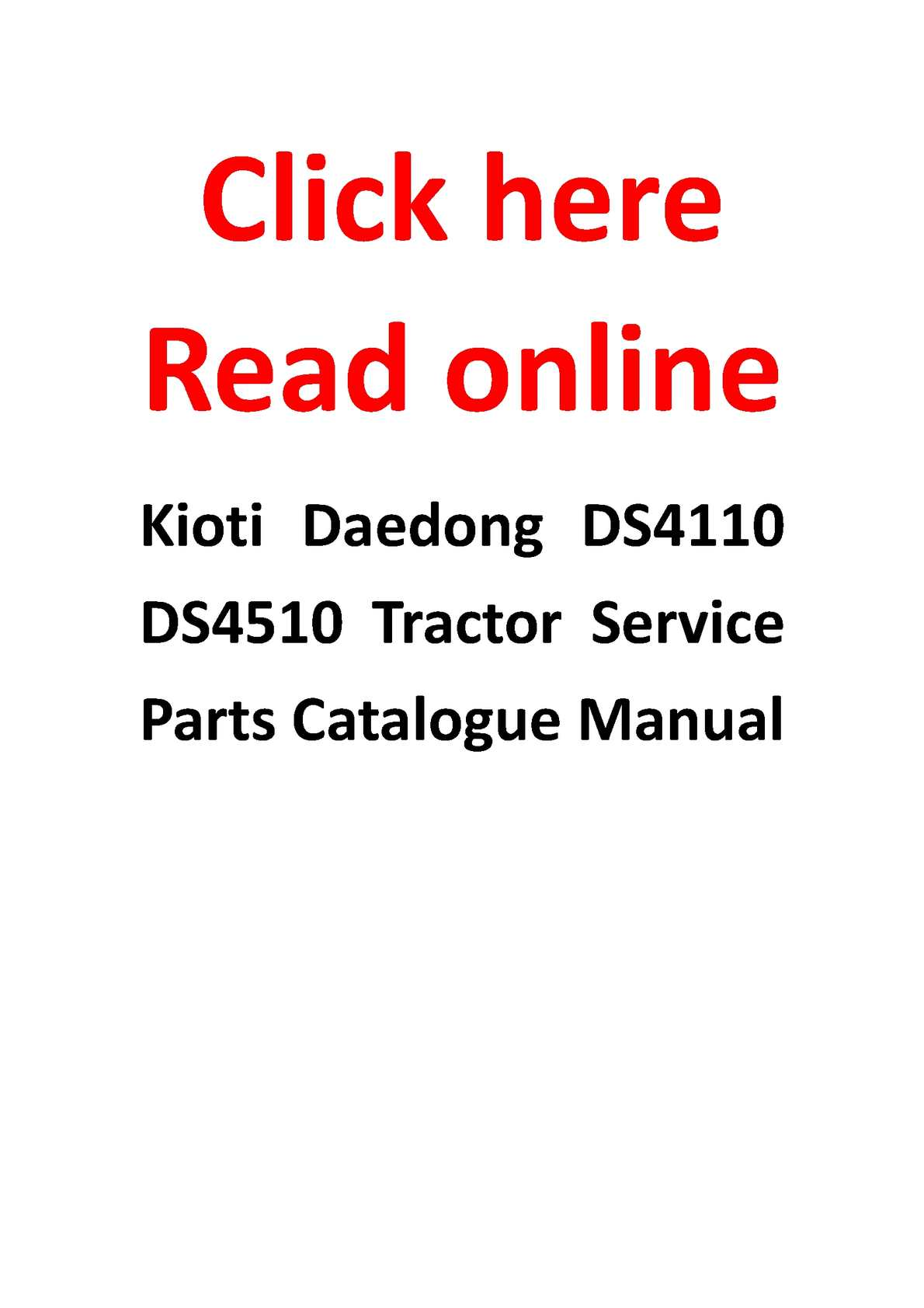 p1 calam�o kioti daedong ds4110 ds4510 tractor service parts Kioti Tractor Wiring Diagrams at reclaimingppi.co