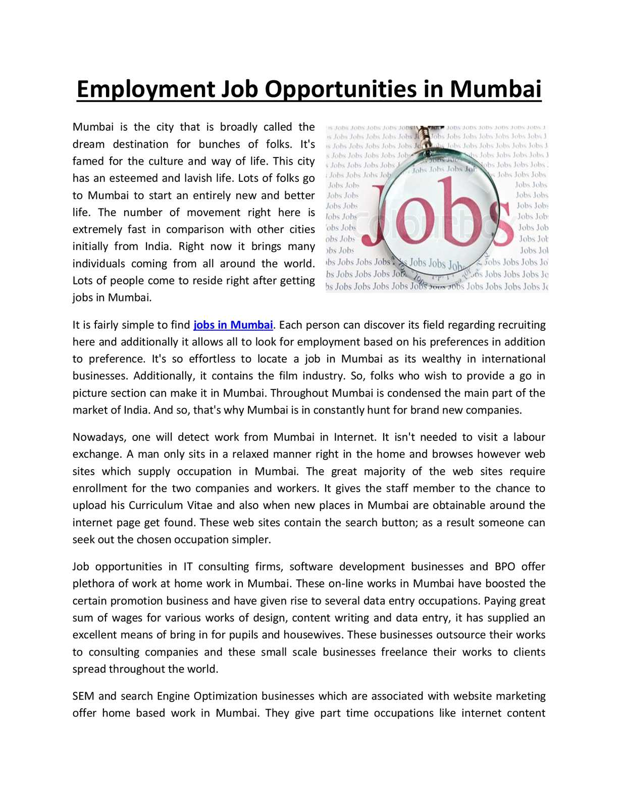 Calaméo - Employment Job Opportunities in Mumbai