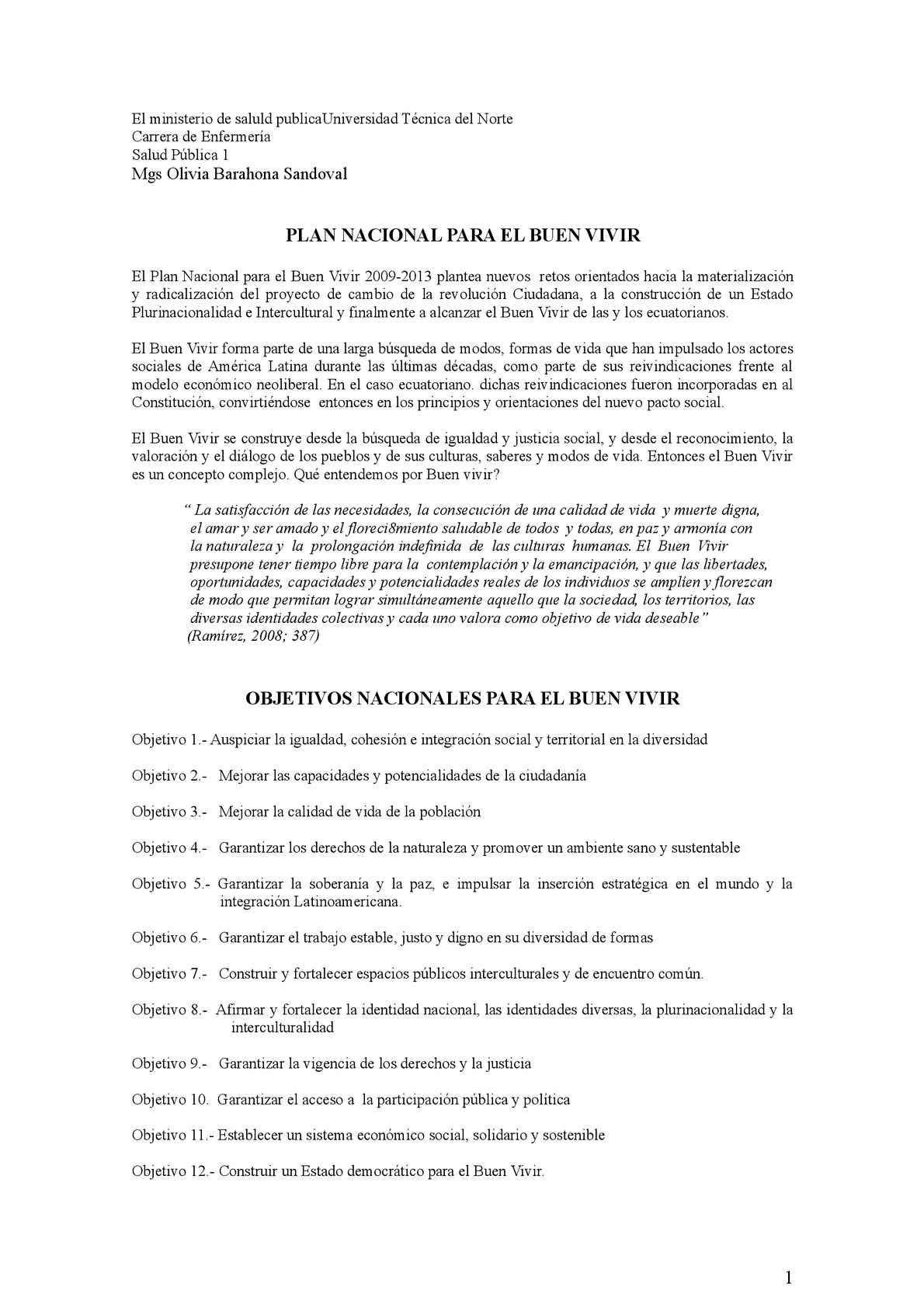 Calaméo - Objetivos Nacionales Buen Vivir