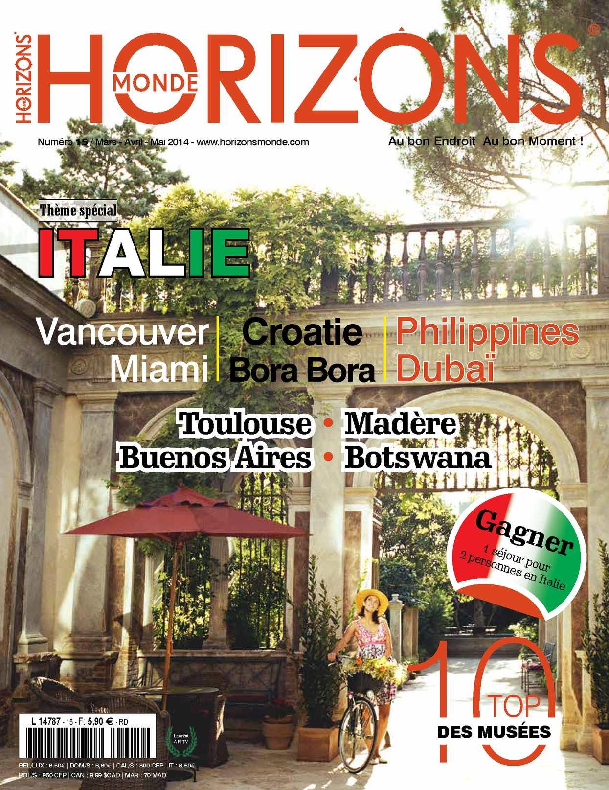 HORIZONS MONDE N°15 Printemps 2014