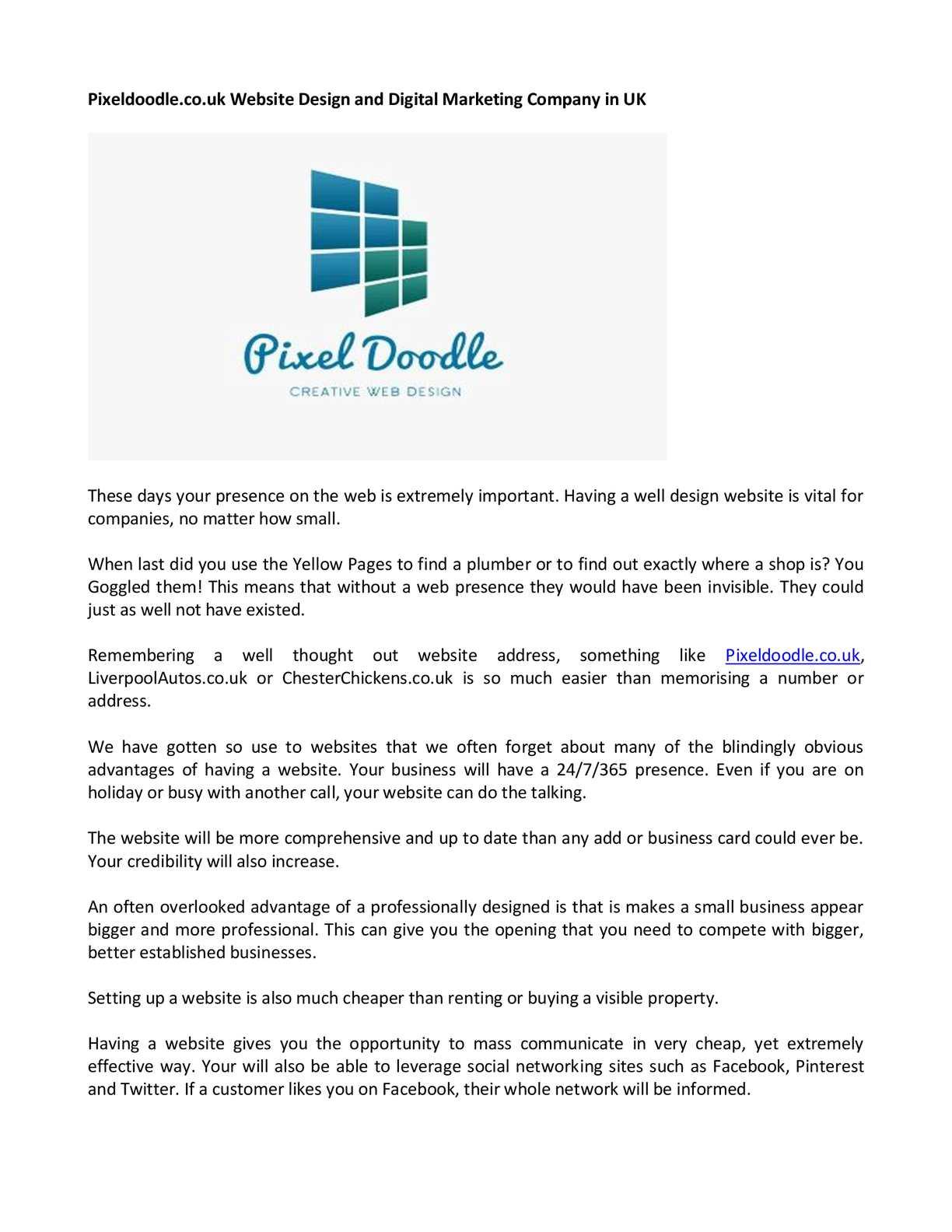 Calaméo Pixeldoodle Website Design and Digital Marketing