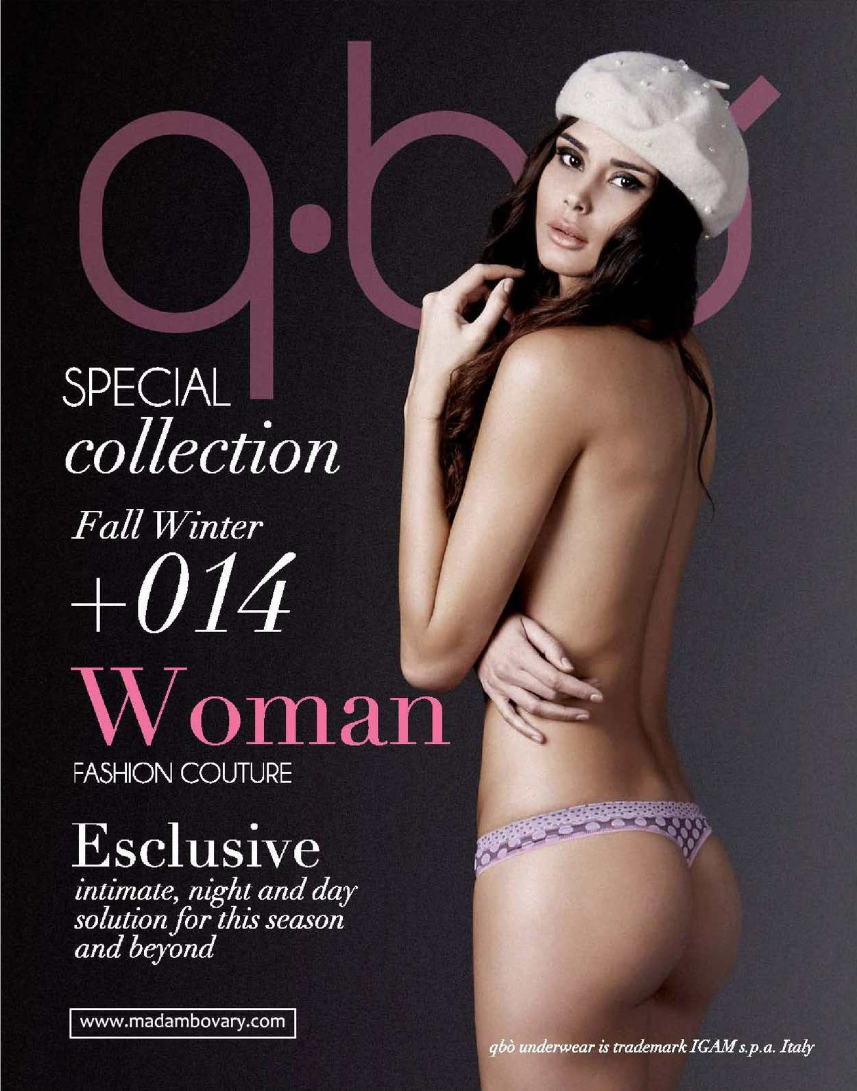 QBO Underwear for Men & Women Collection 2014/15 Made in Italy.