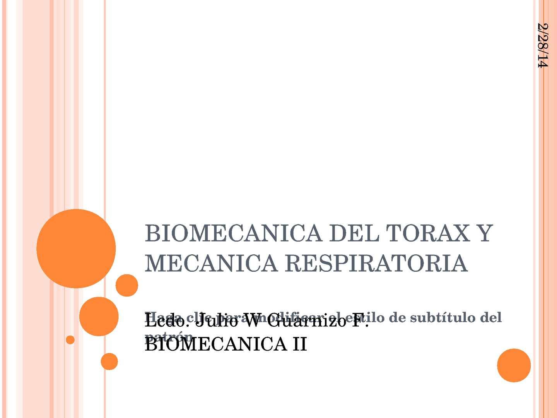Calaméo - BIOMECANICA DEL TORAX Y MECANICA RESPIRATORIA